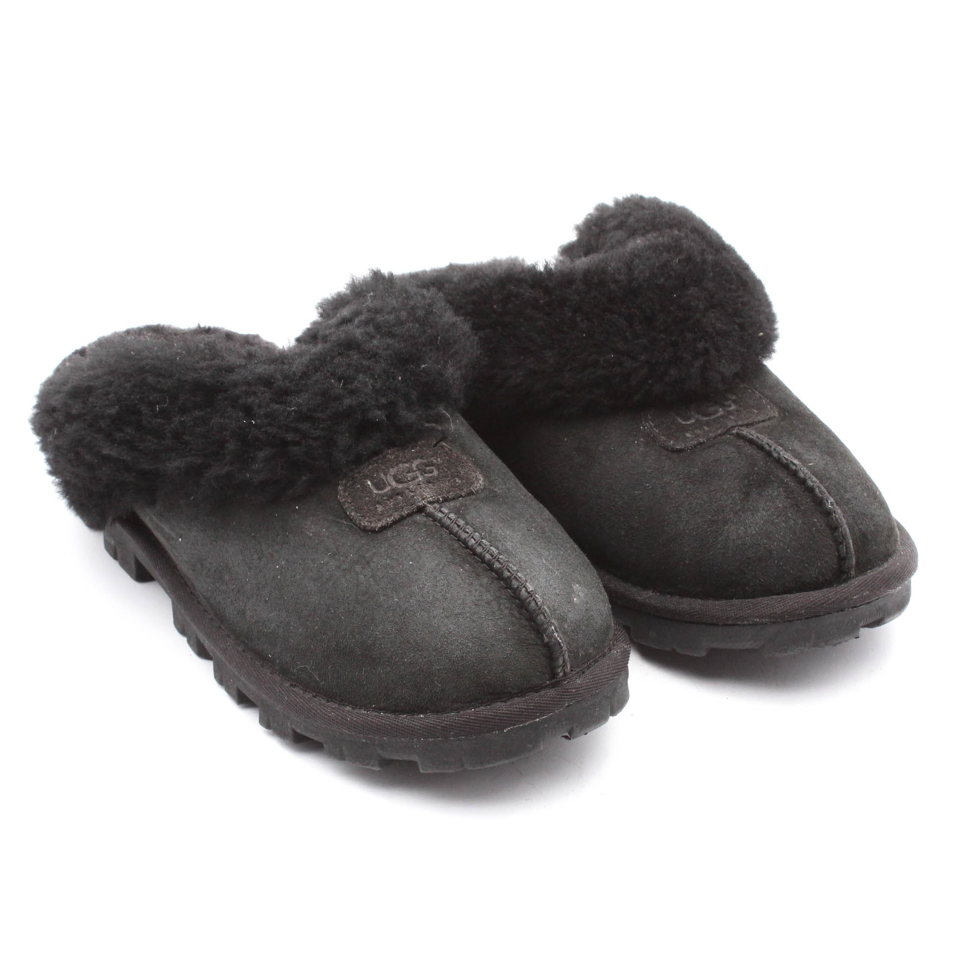 Women's UGG Australia Coquette Suede and Sheepskin Slippers