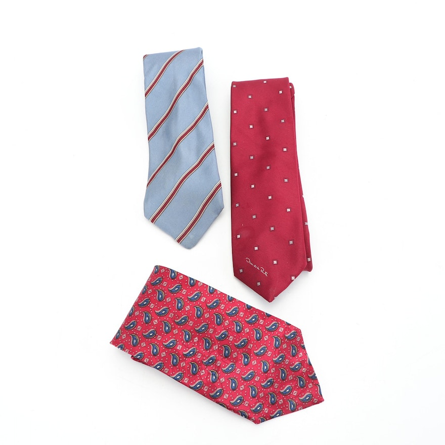 ead587840f51 Men's Vintage Christian Dior and Oscar De La Renta Neckties : EBTH