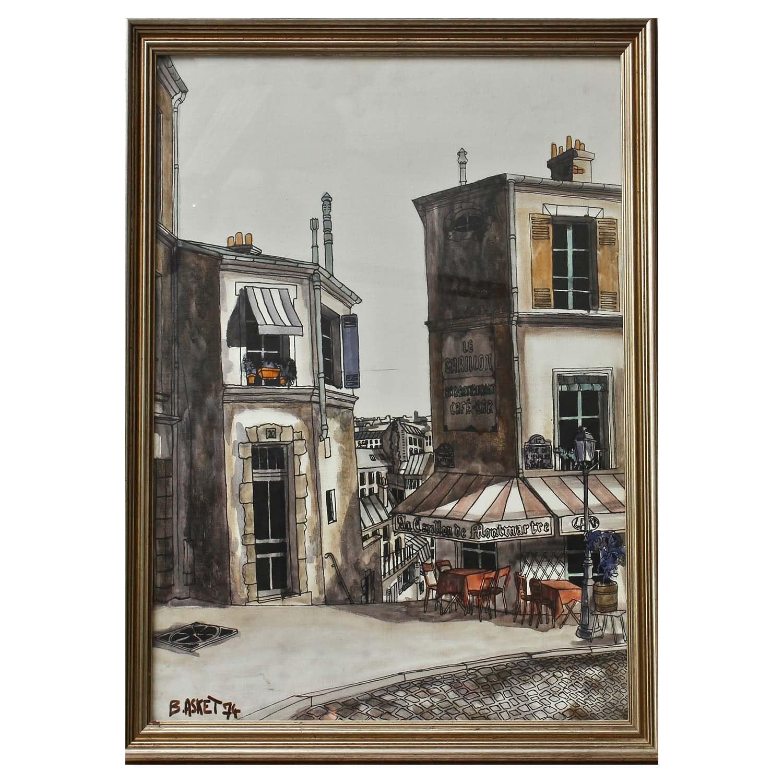 Vintage Watercolor by Basket of Paris