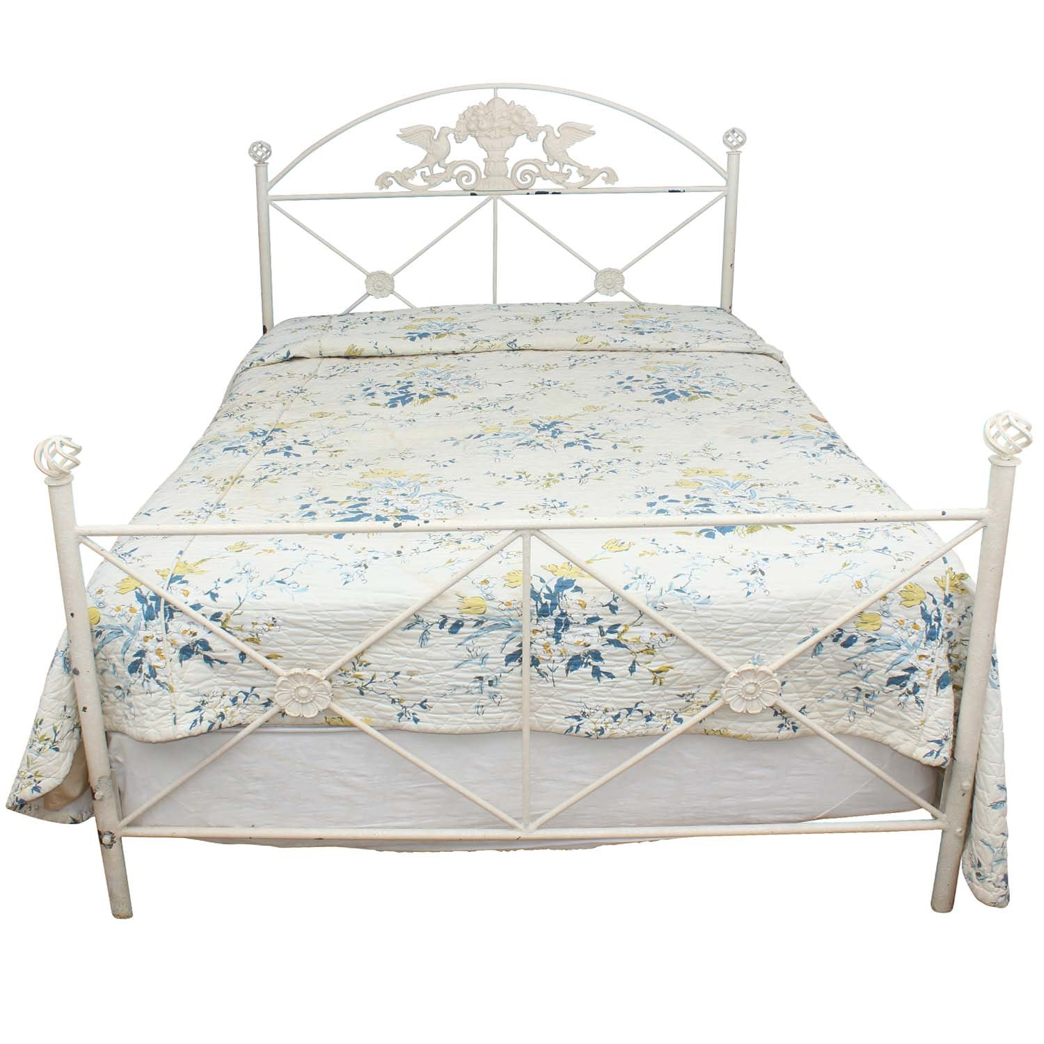Vintage Iron Queen Size Bed Frame