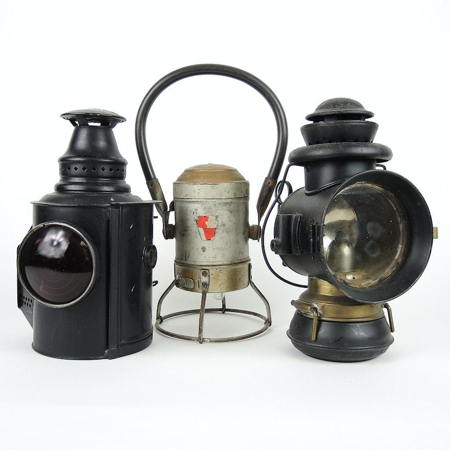 Adlake Railroad Semaphore Lamp, Star Headlight Conductor Hand Signal and  More