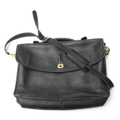 7d1358d650d5 1999 Coach Lexington Black Leather Briefcase
