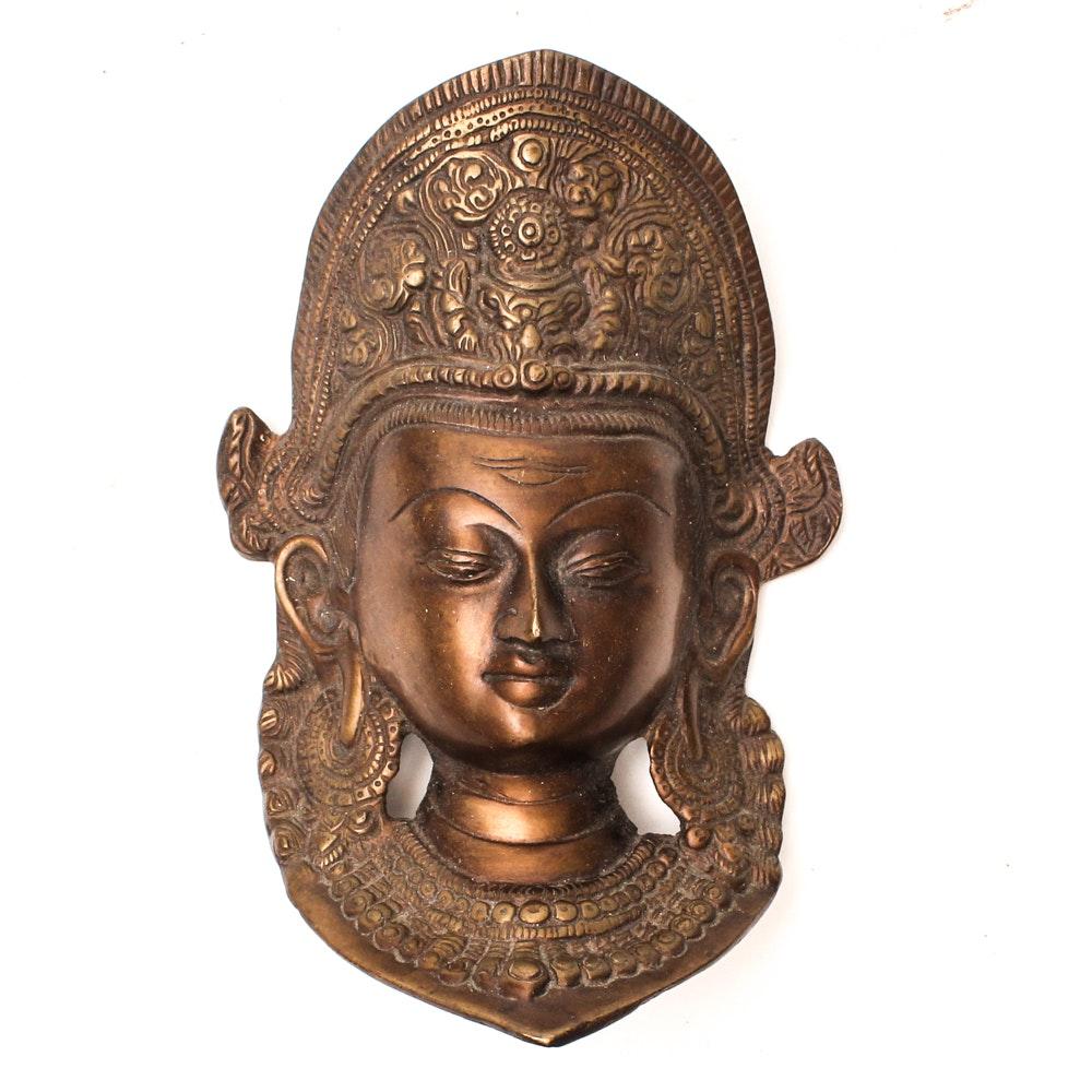 Decorative Bronze Tara Mask