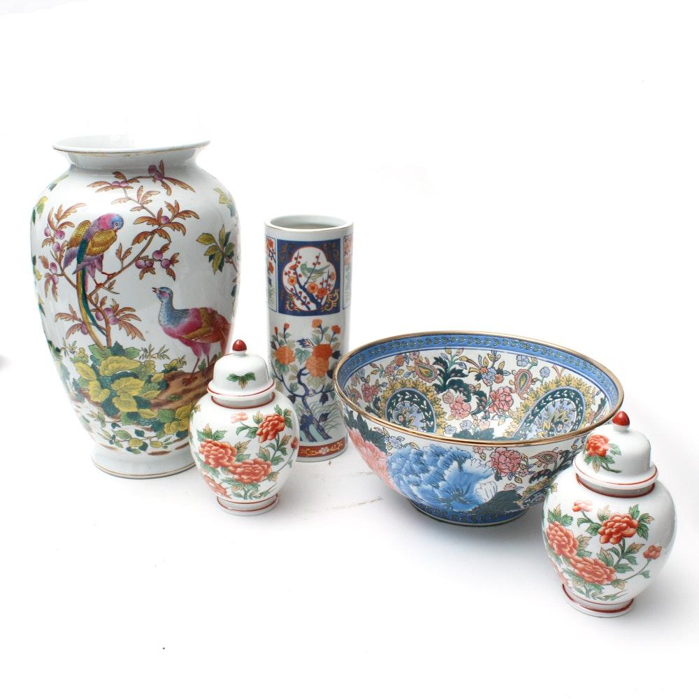 Andrea by Sadek Asian Vases, Ginger Jars, and Serving Bowl