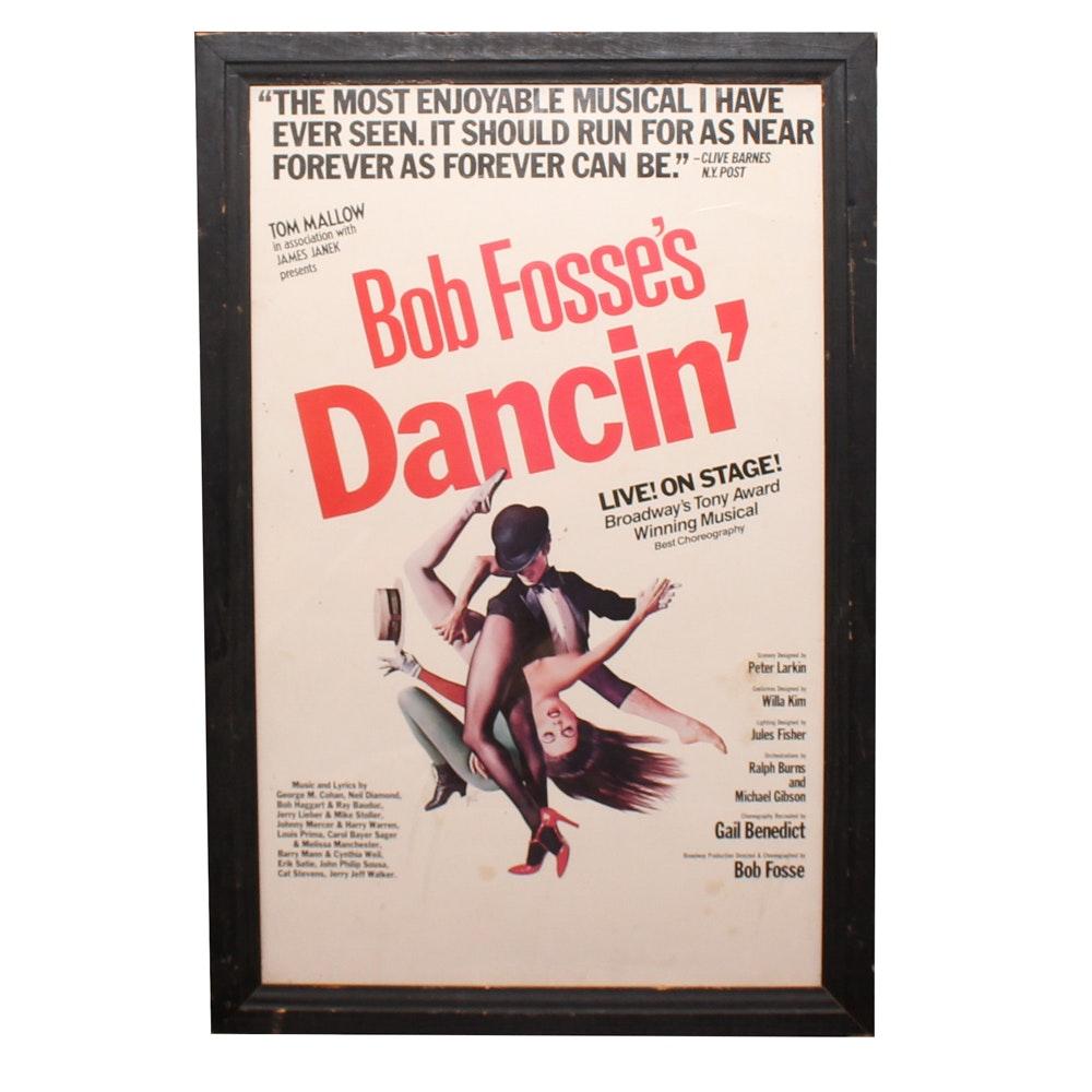 Framed Bob Fosse's Dancin' Poster