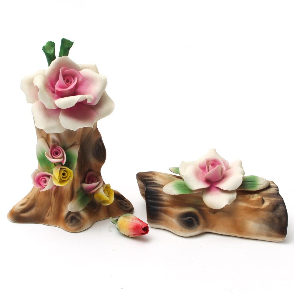 Capodimonte Floral Branch Figurines