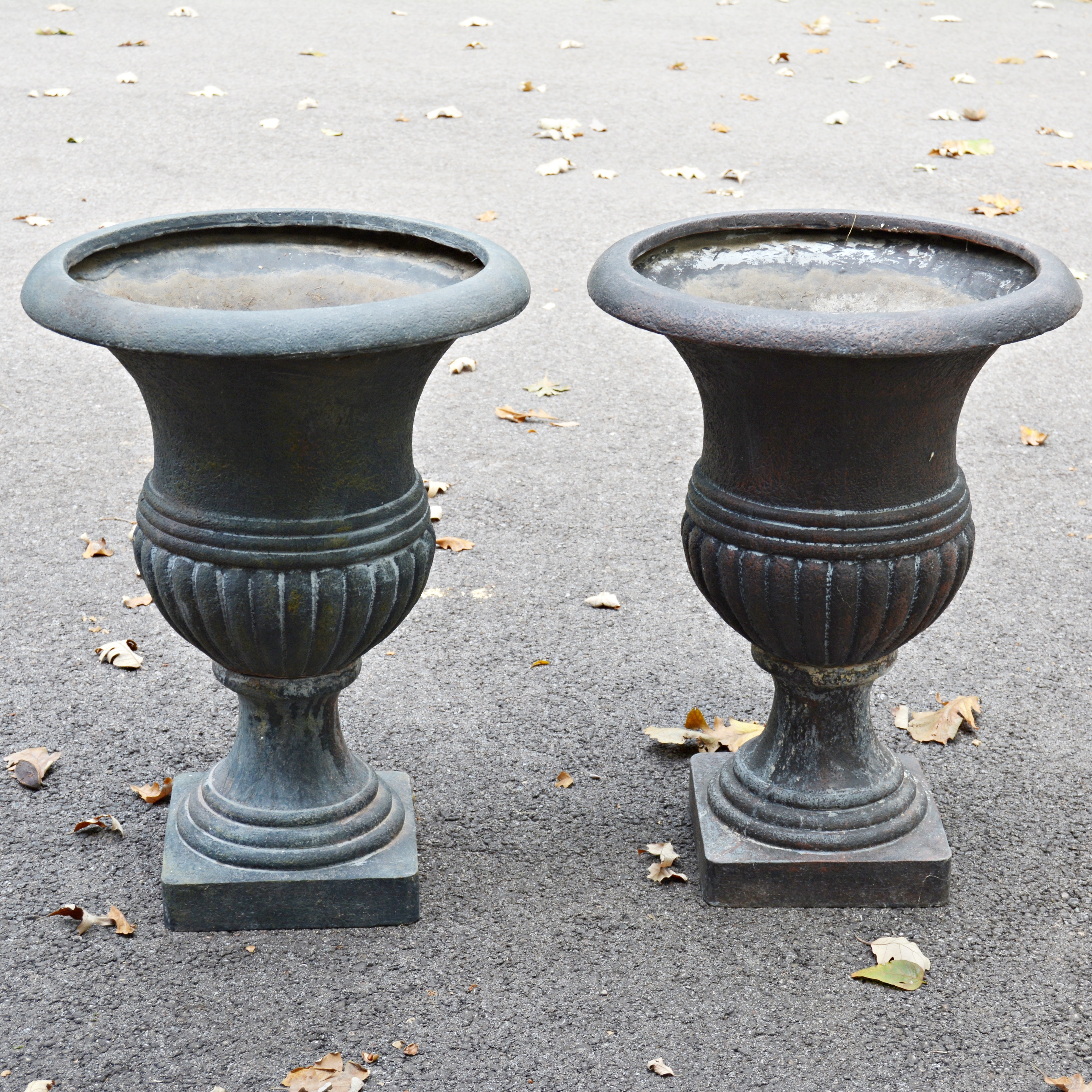Pair of Resin Urn Outdoor Planters