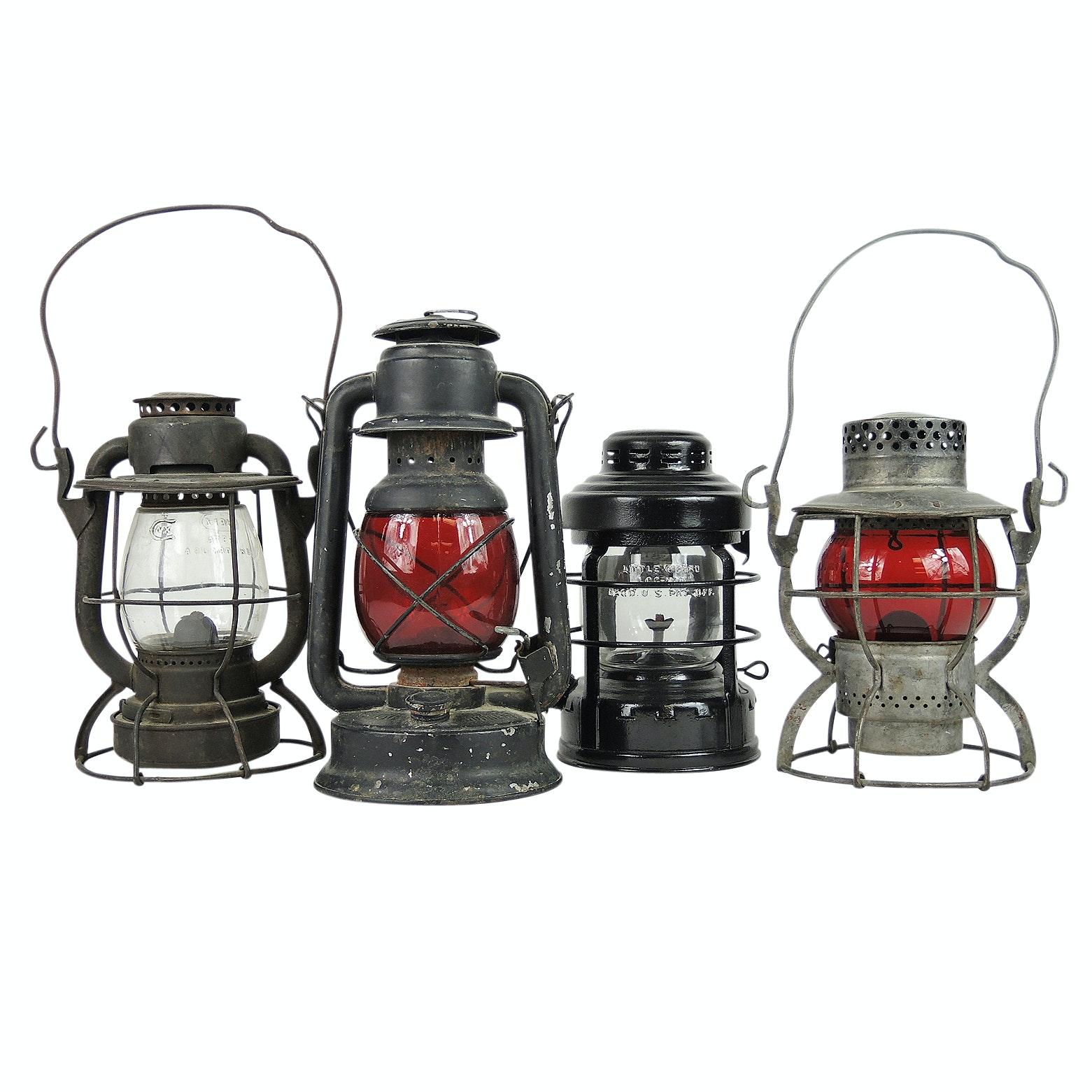 Vintage Dietz and Embury Mfg. Co. Railroad Lanterns