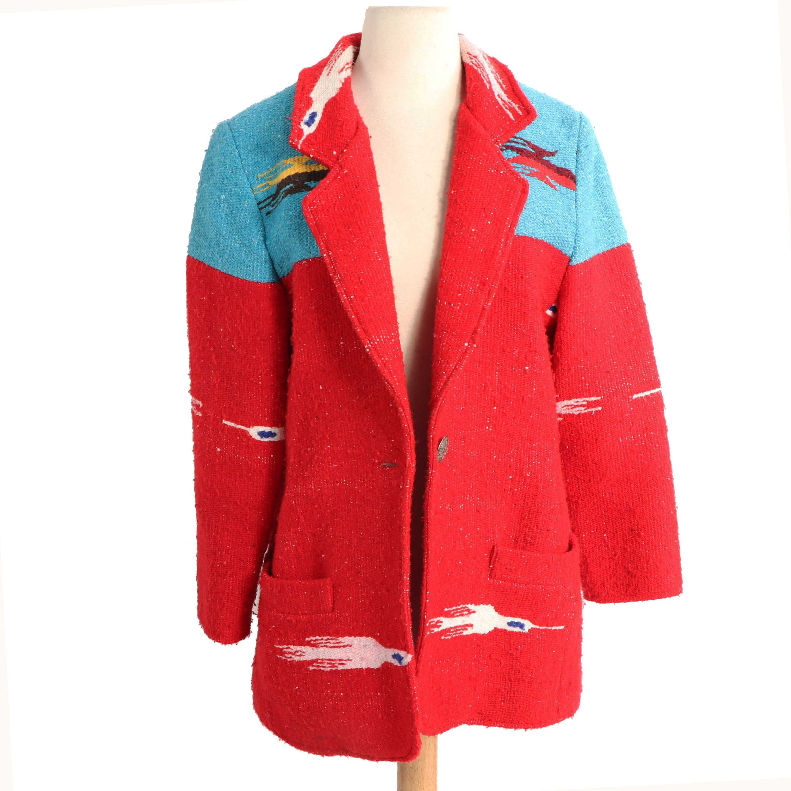 Women's Vintage Gerard by PeGe Cotton Blend Southwestern Style Jacket