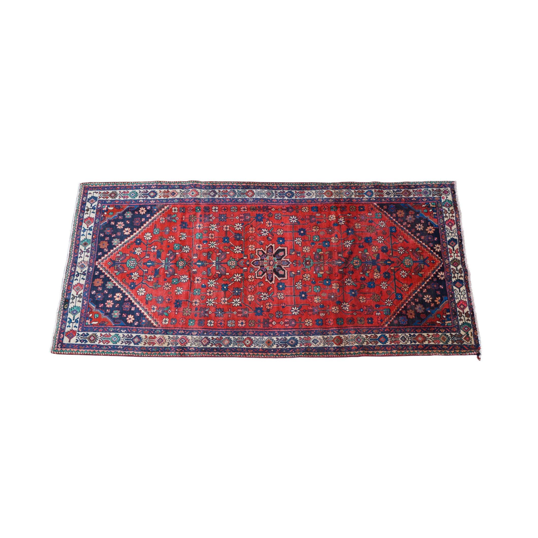 Hand-Knotted Caucasian Karabagh Wool Long Rug