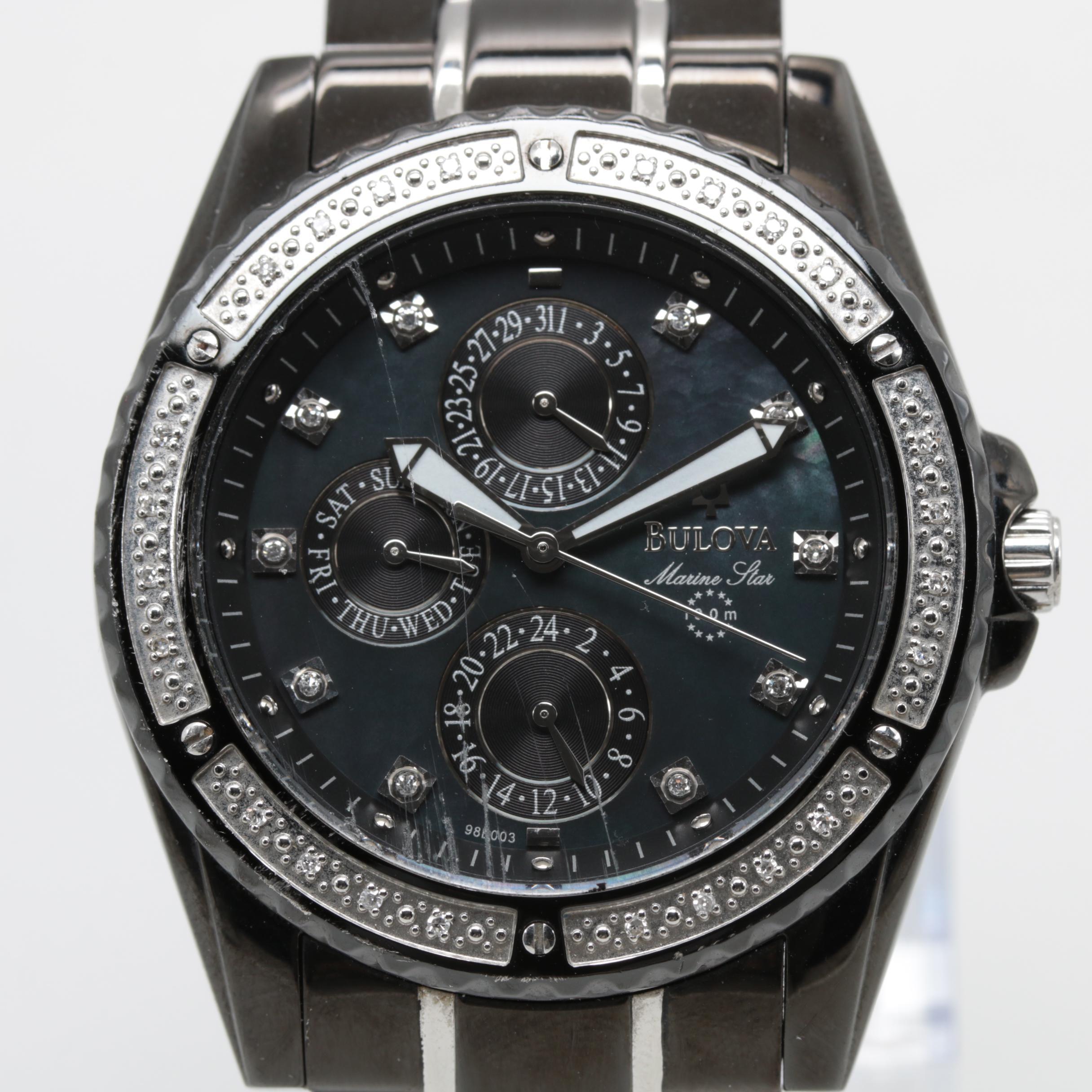 Bulova Marine Star Mother of Pearl and Diamond Model C960924 Wristwatch