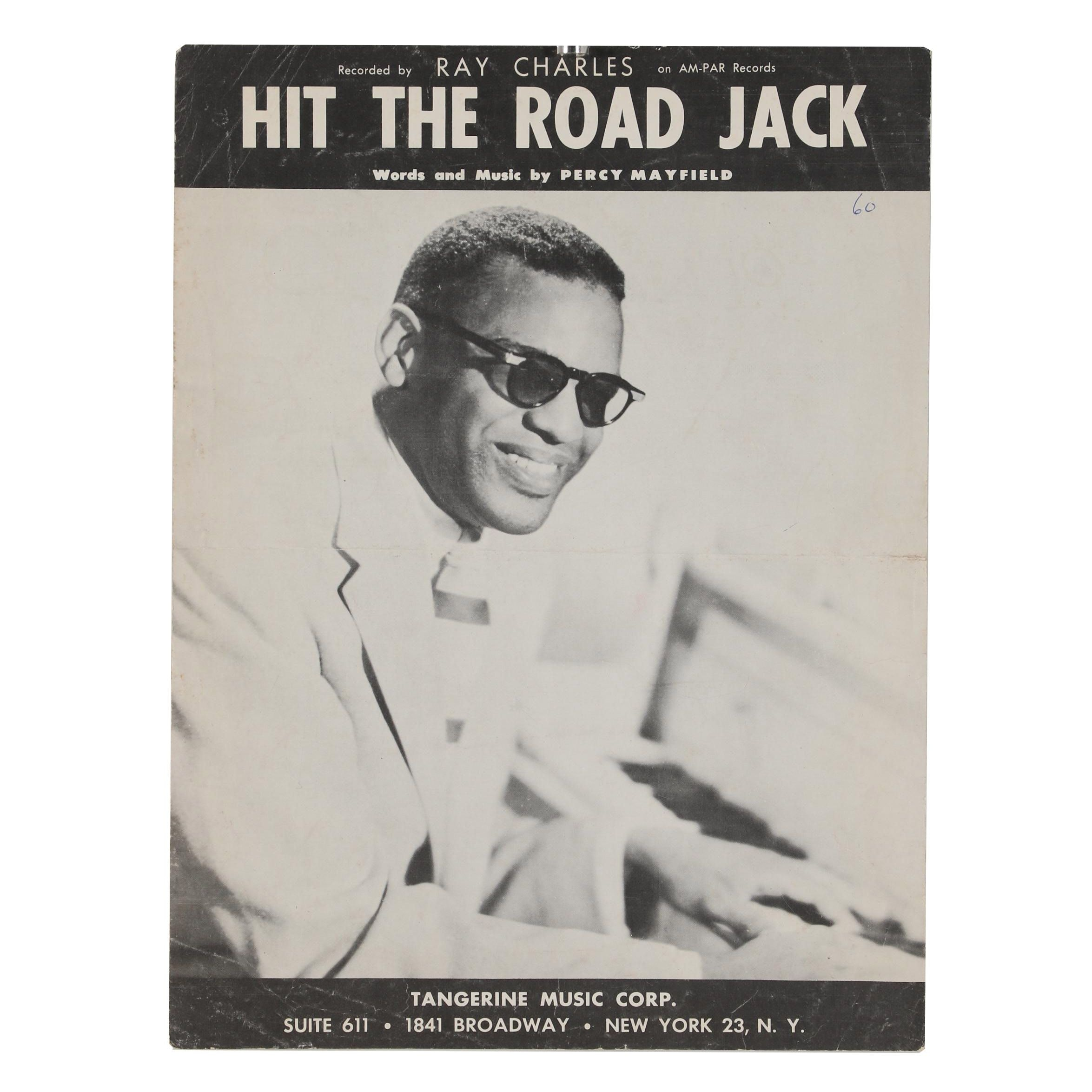 "Ray Charles ""Hit the Road Jack"" Sheet Music"