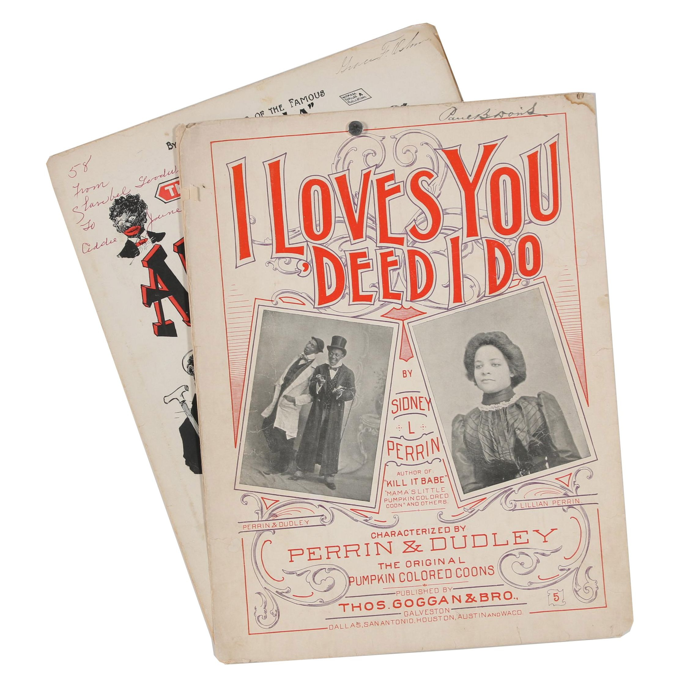 Late 19th Century Sheet Music