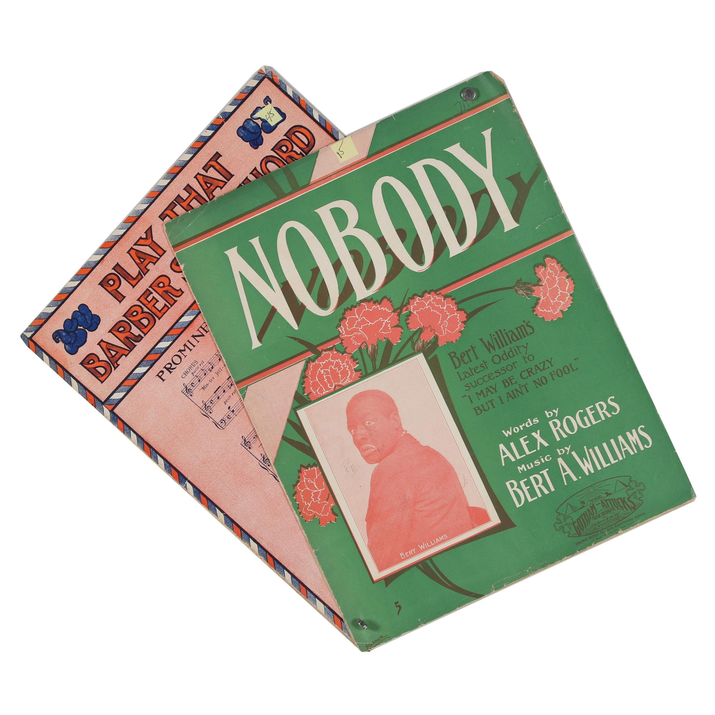 "1910 ""Play That Barber Shop Chord"" and 1912 ""Nobody"" Sheet Music"