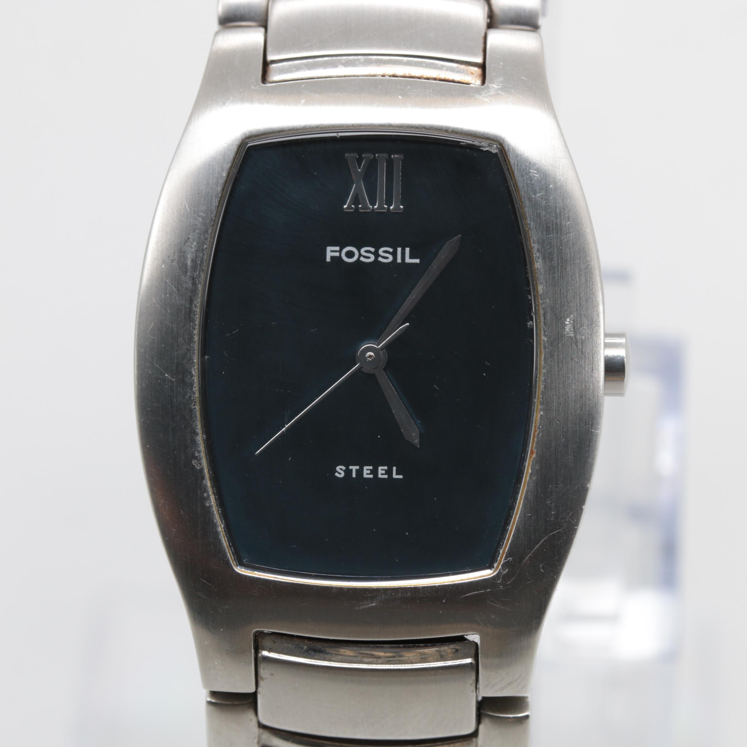 Fossil Stainless Steel Model FS-2738 Quartz Wristwatch