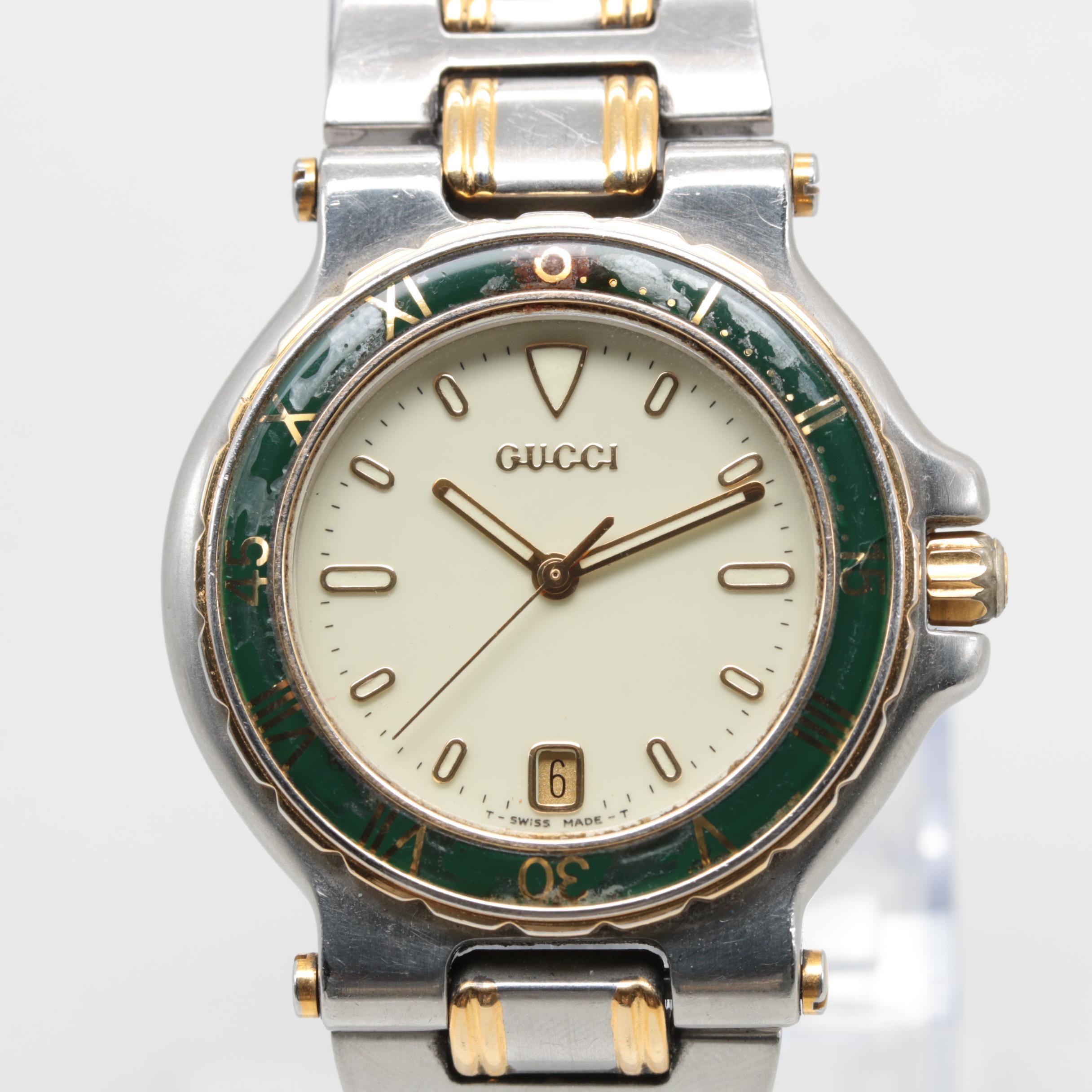 Gucci Two-Tone Model 9700M Wristwatch