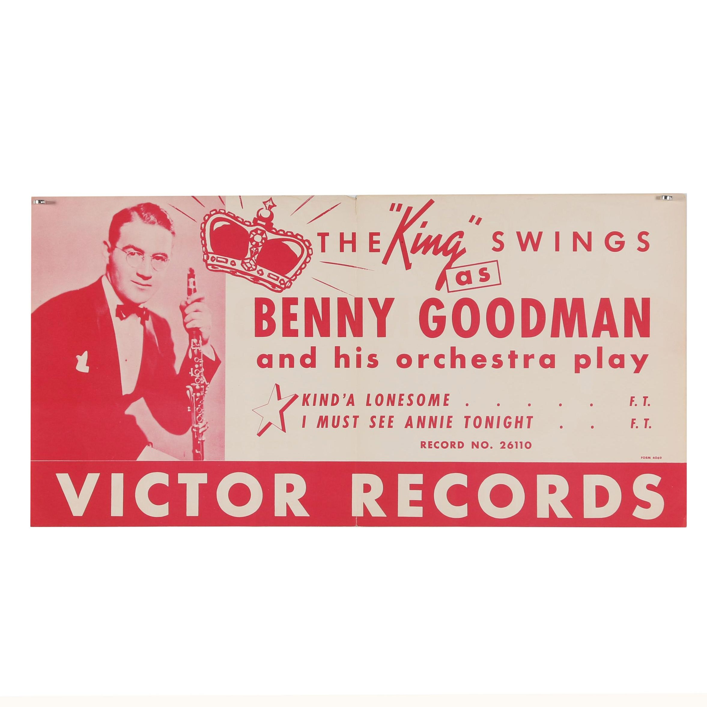 Benny Goodman and His Orchestra Promotional Poster