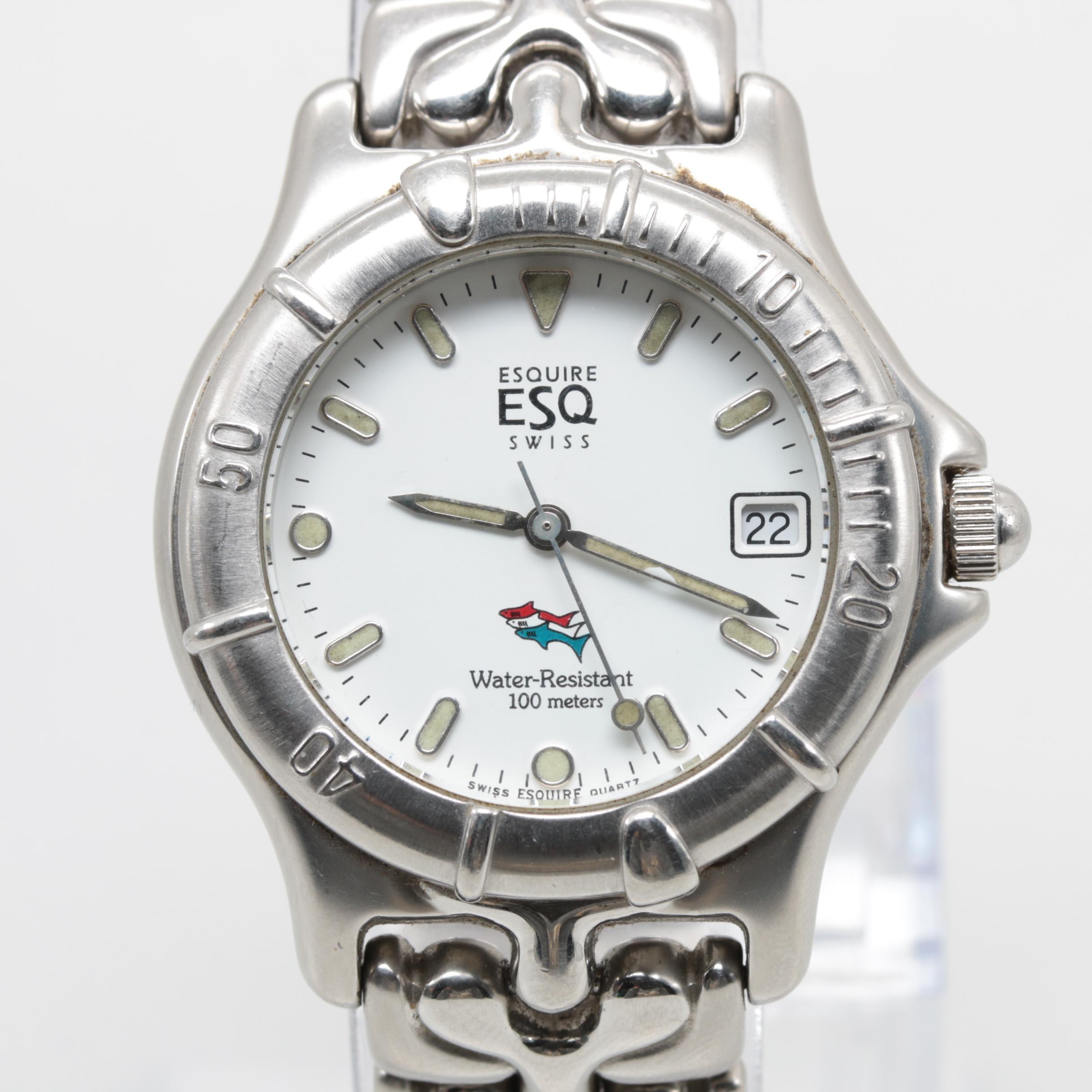 ESQ Stainless Steel Model 300240B Quartz Wristwatch