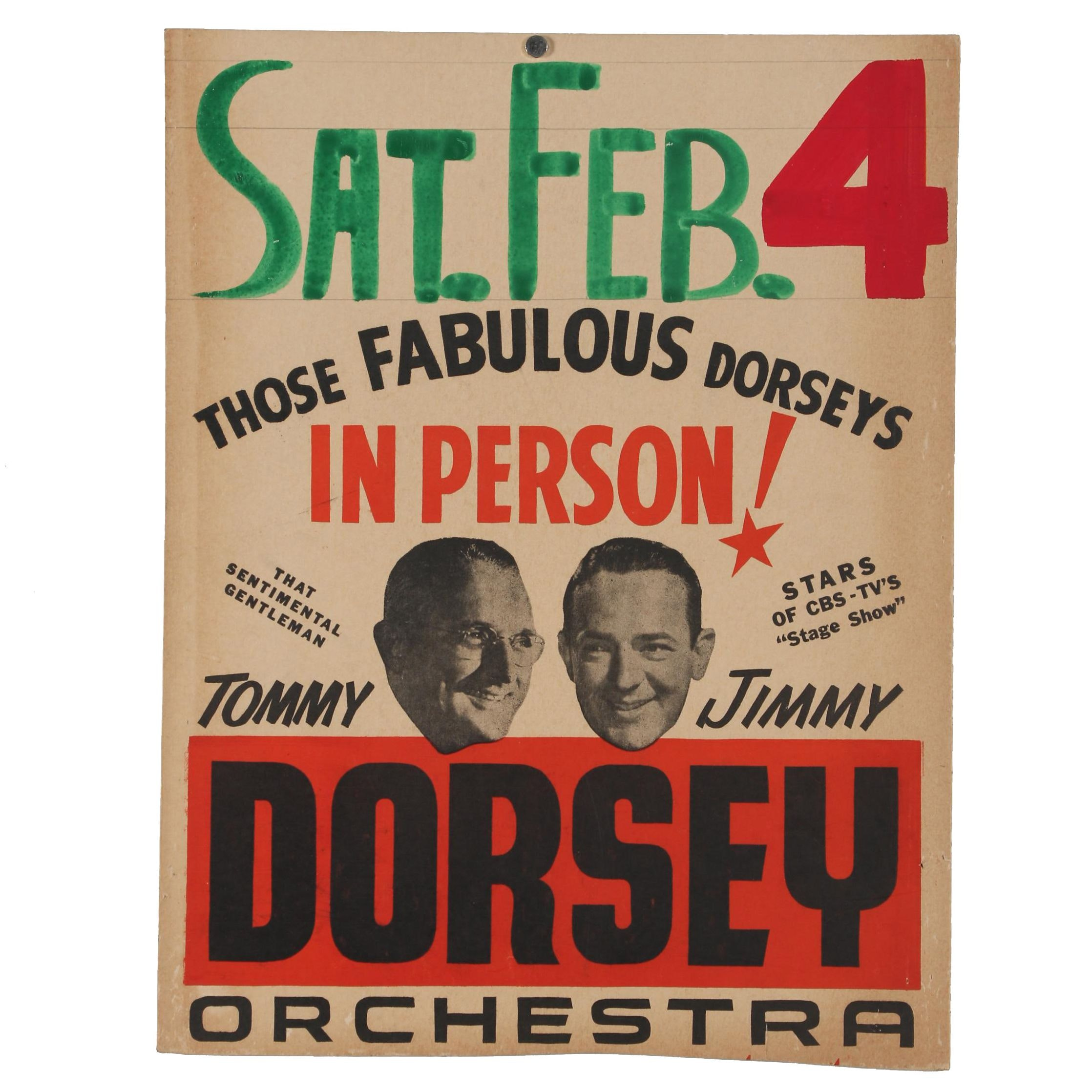 Dorsey Orchestra Promotional Concert Poster