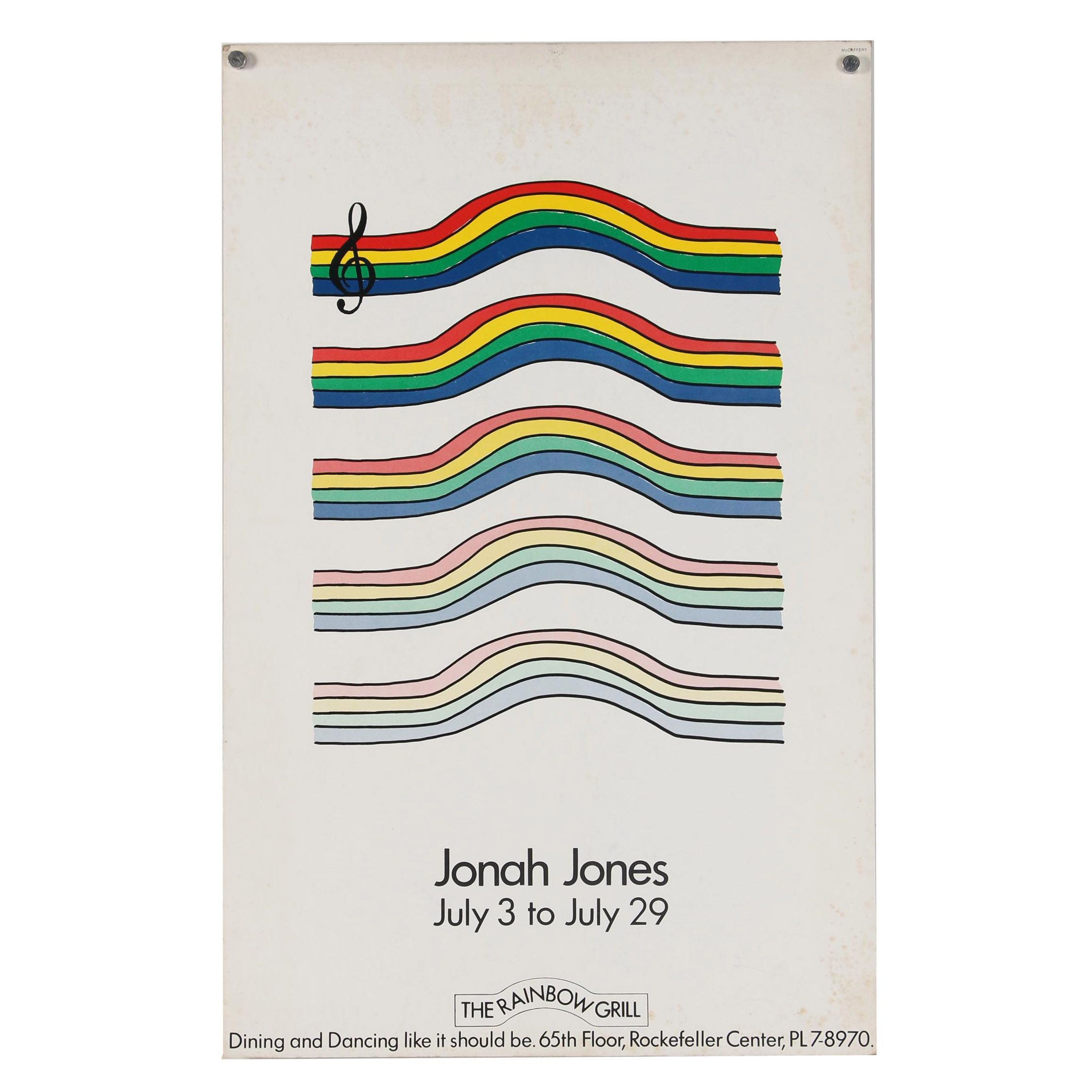 Jonah Jones Exhibition Poster at The Rainbow Grill