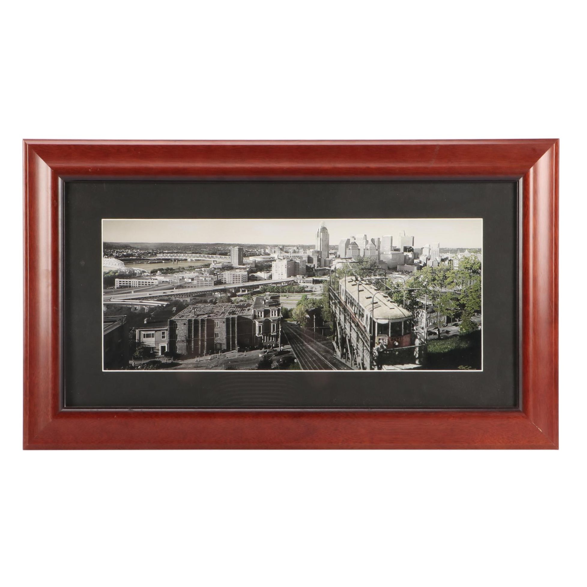 Erce Gokhan Photographic Print of Cincinnati with Historical View