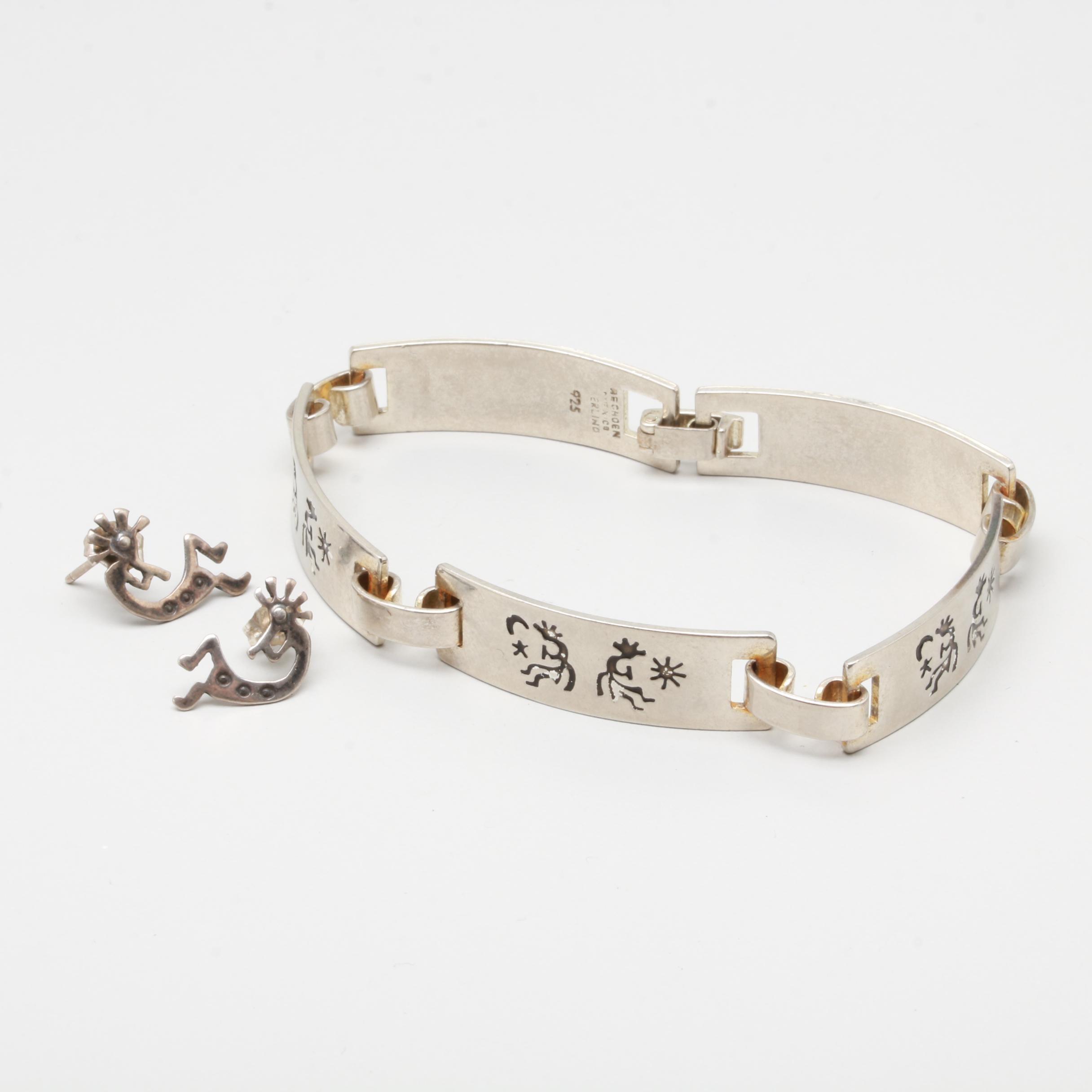 Southwestern Style Sterling Silver Kokopeli Jewelry