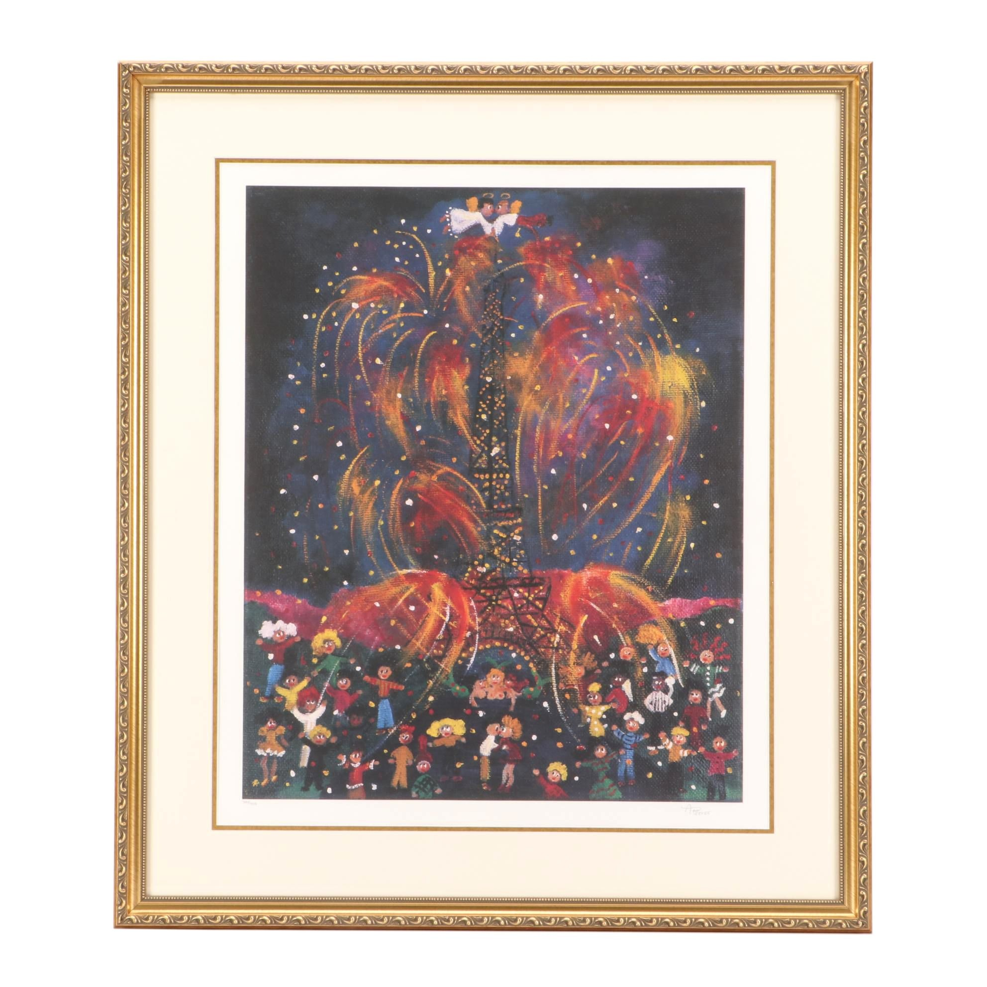 """Ann Reeves Limited Edition Offset Lithograph """"Americana"""""""