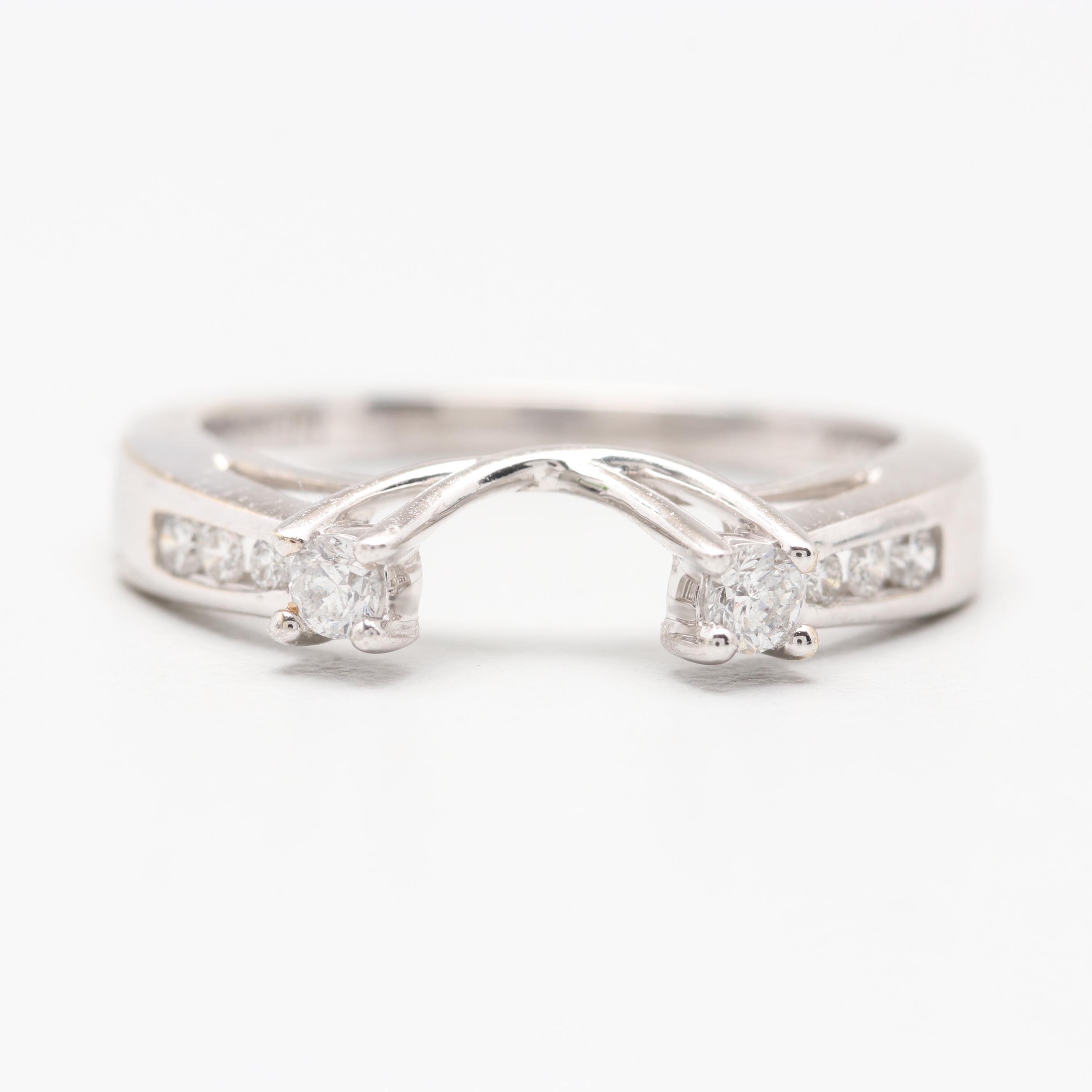 14K White Gold Diamond Enhancer Ring