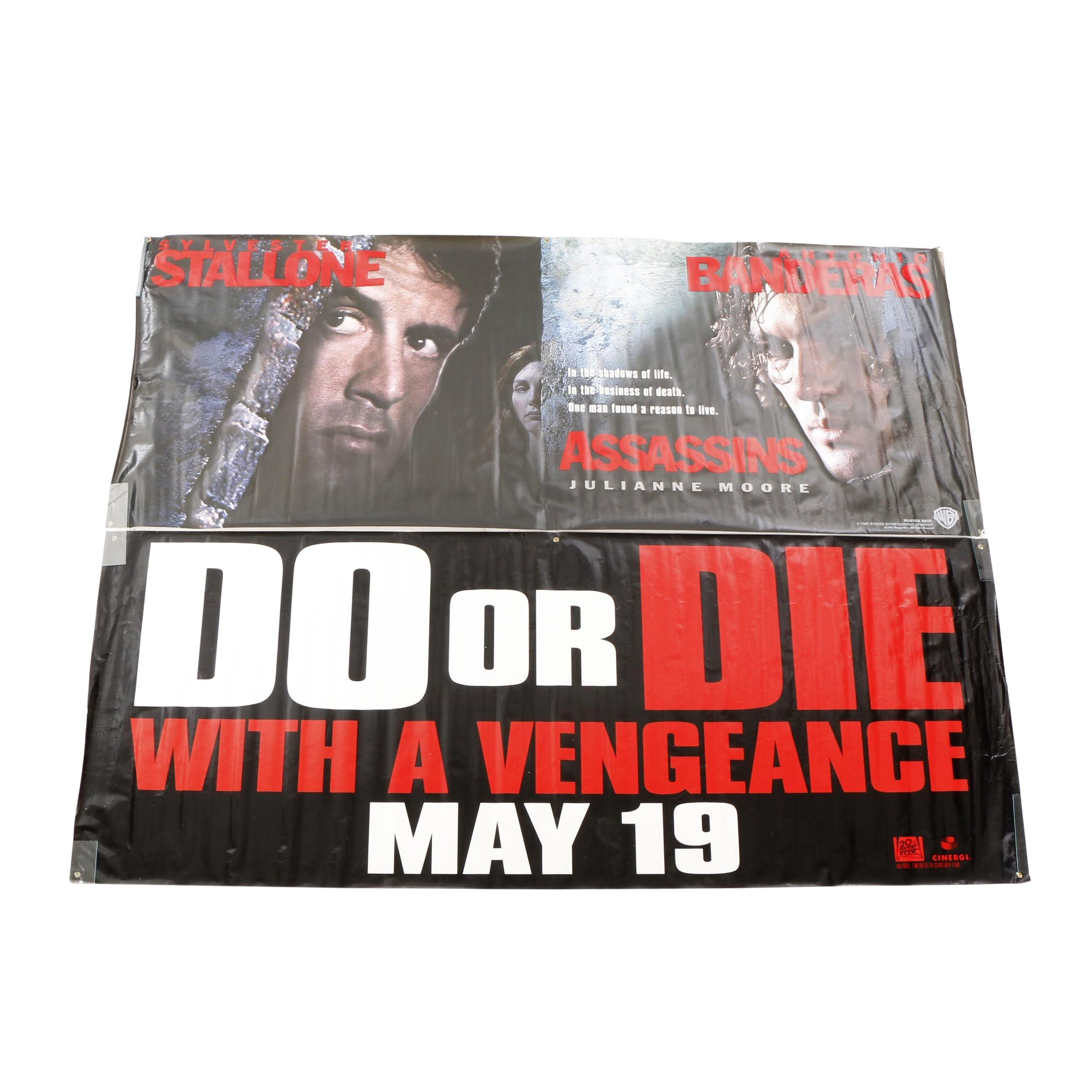 "Advertising Movie Banners for ""Die Hard With a Vengeance"" and ""Assassins"""