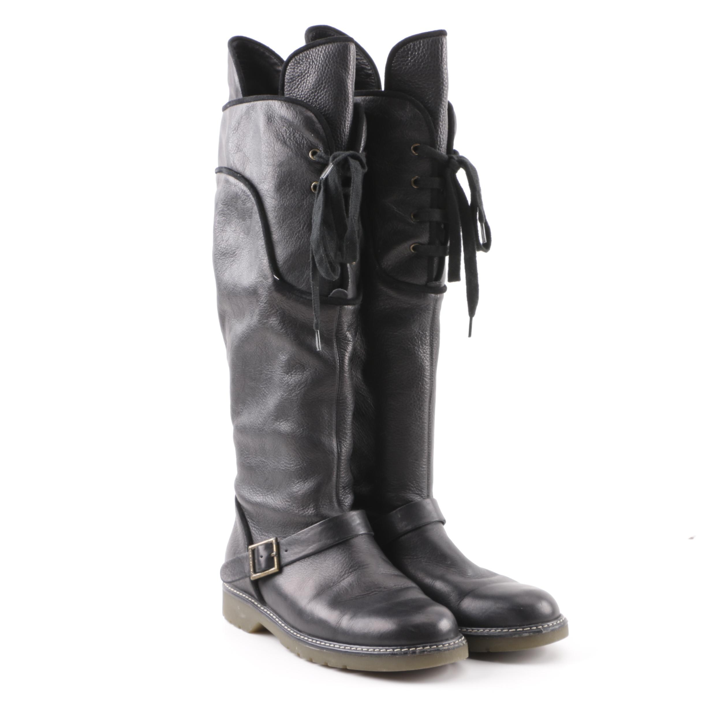 See By Cholé Black Leather Boots