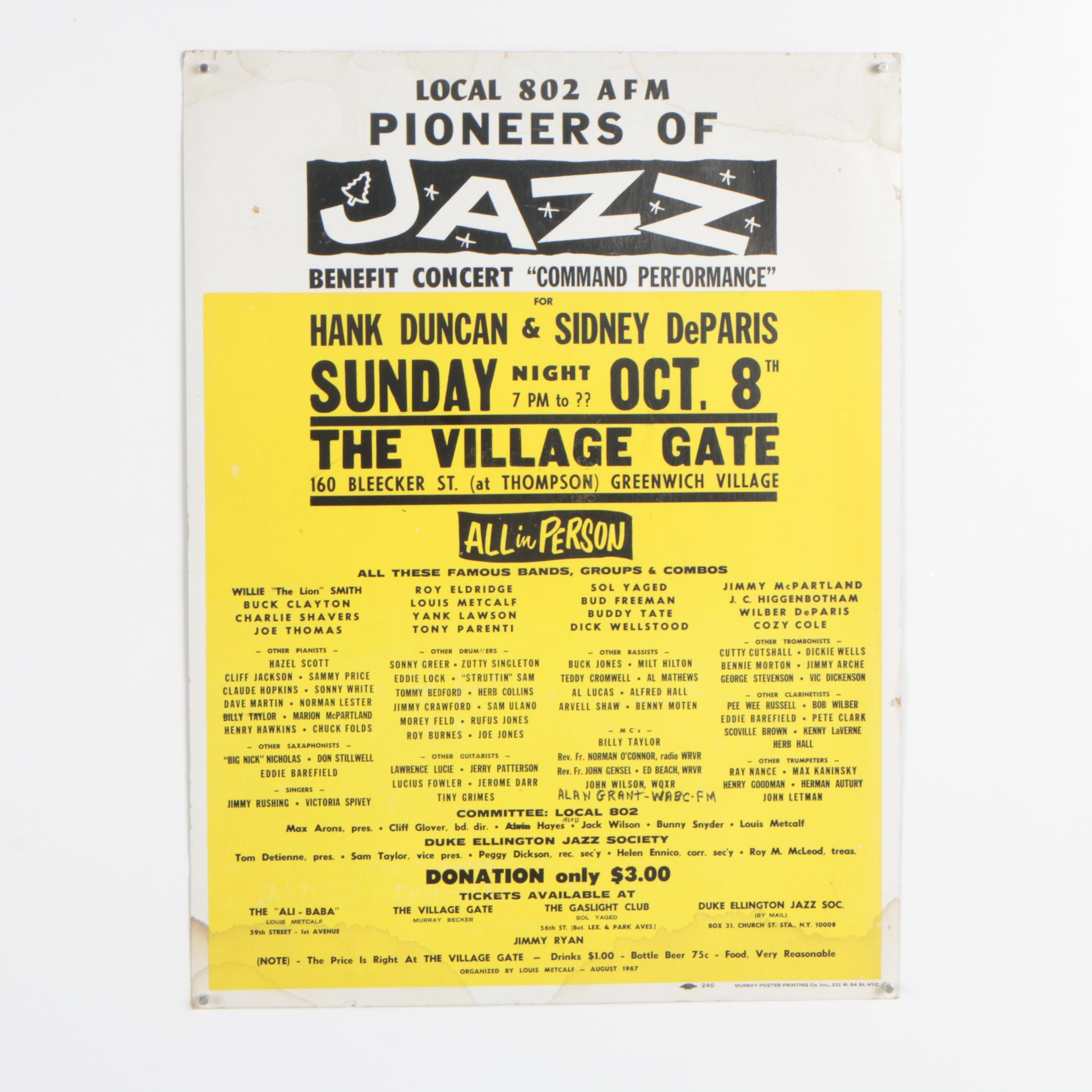 "Relief Jazz Poster ""Command Performance"""