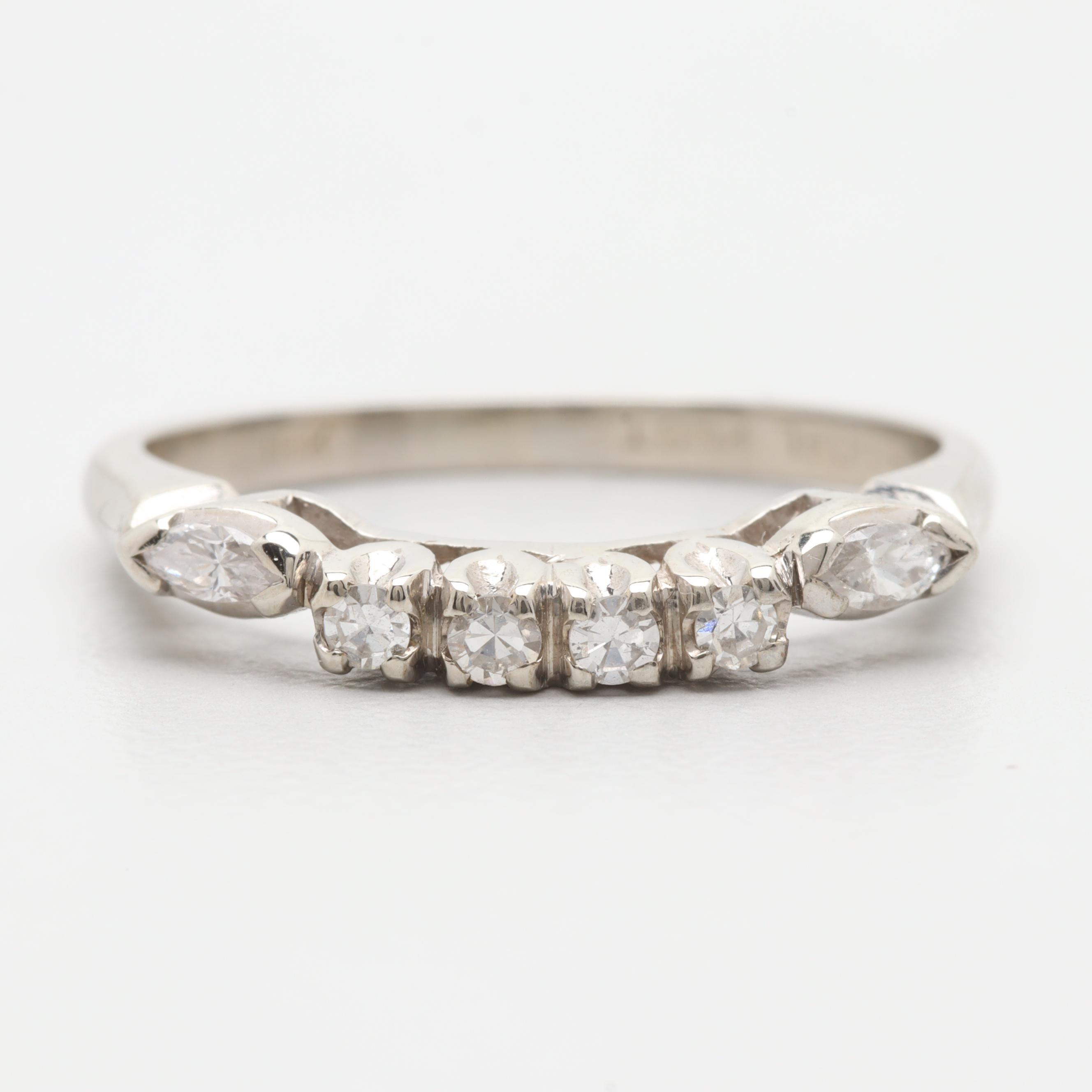 18K White Gold Diamond Enhancer Ring