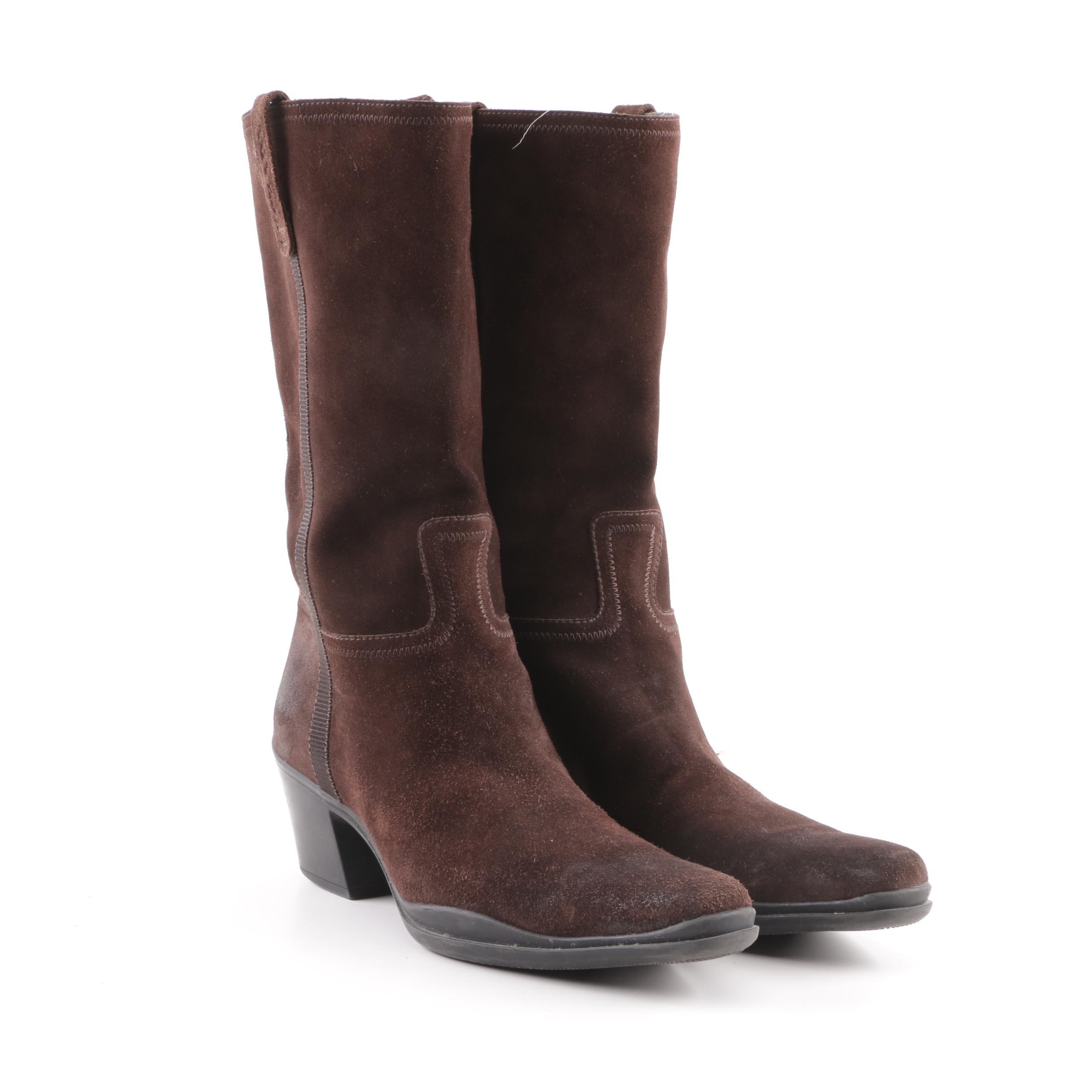 Women's Prada Brown Suede Boots