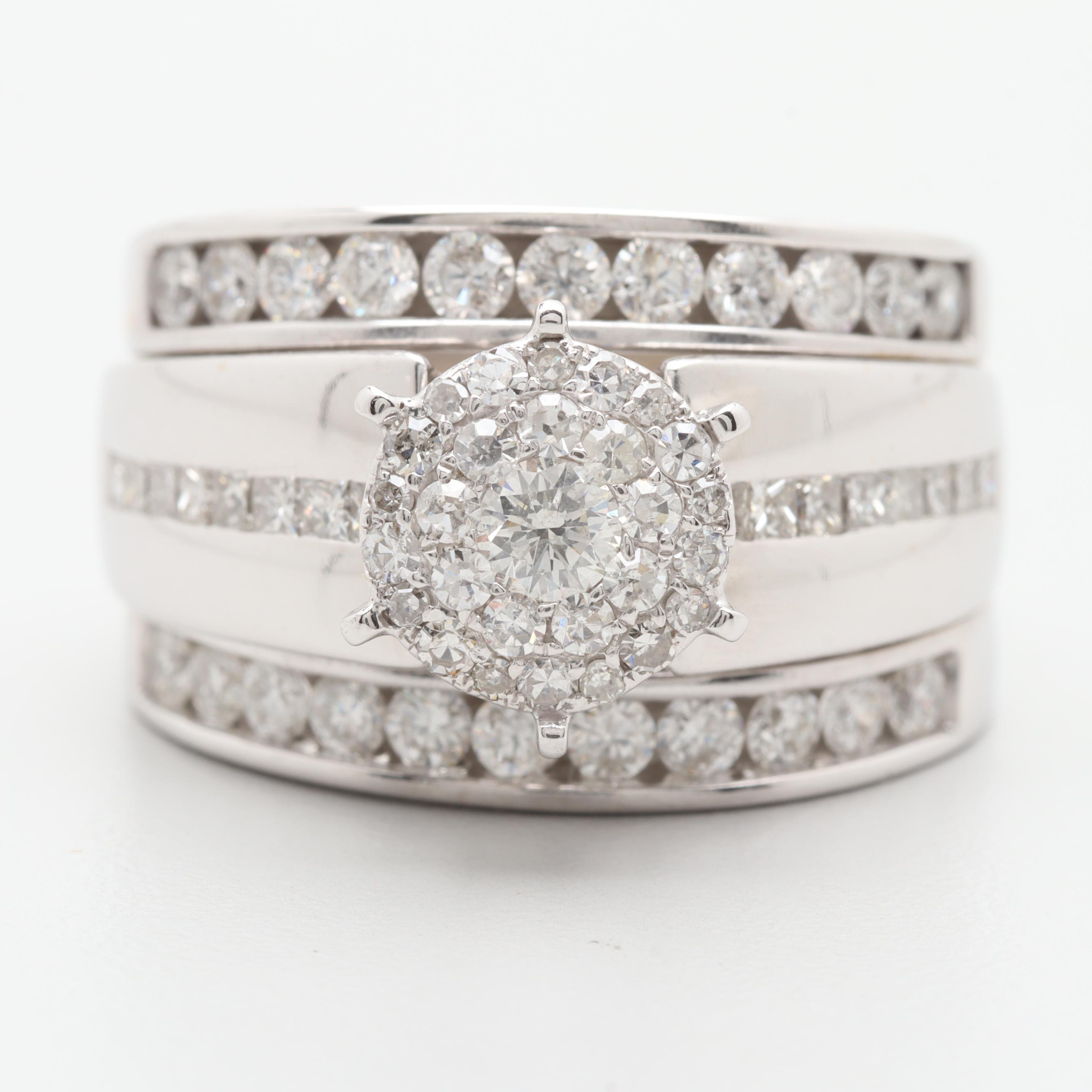14K White Gold 1.56 CTW Diamond Ring