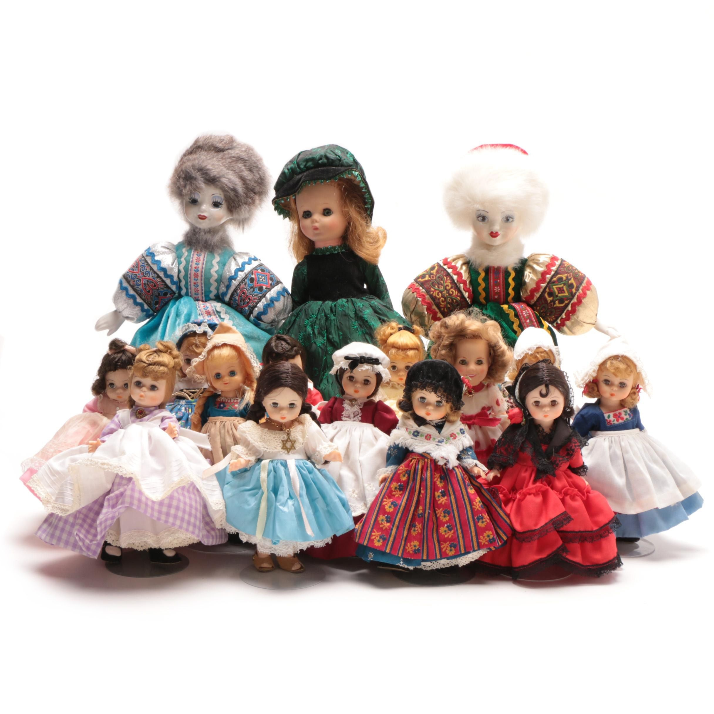 Classic Dolls Including Ideal Shirley Temple and Madam Alexander