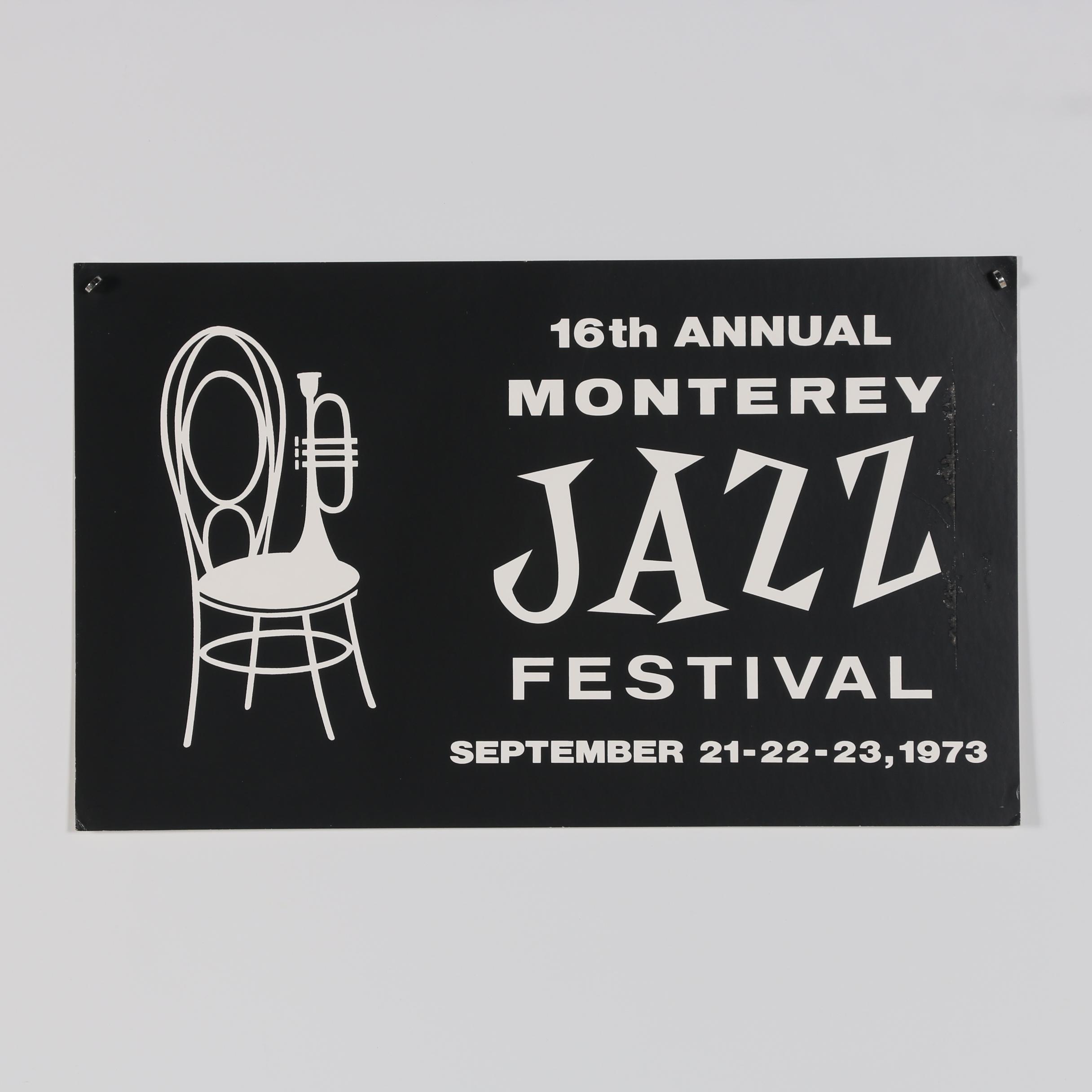 "Advertisement Poster ""16th Annual Monterey Jazz Festival"""