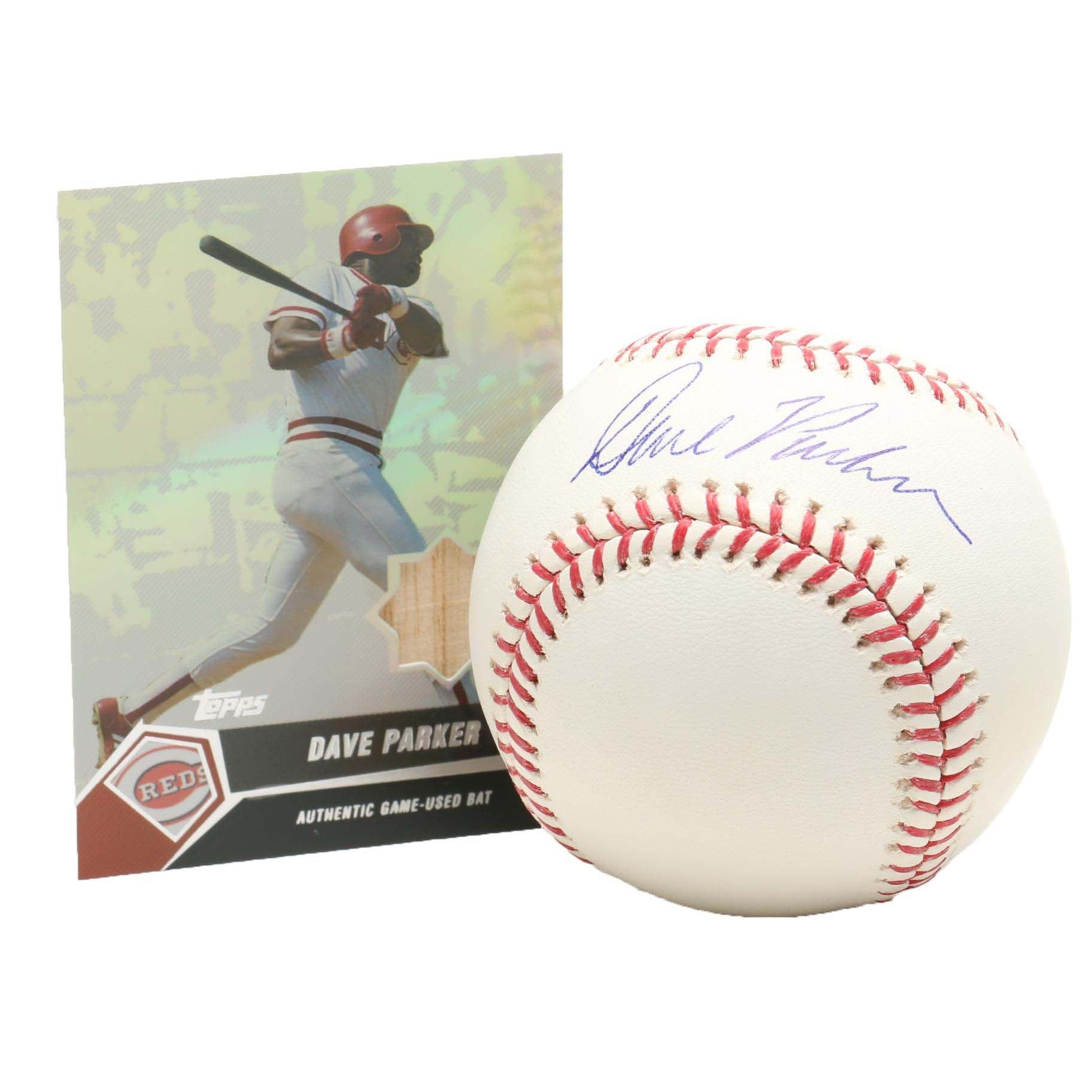 Dave Parker Signed Rawlings Major League Baseball PSA/DNA COA