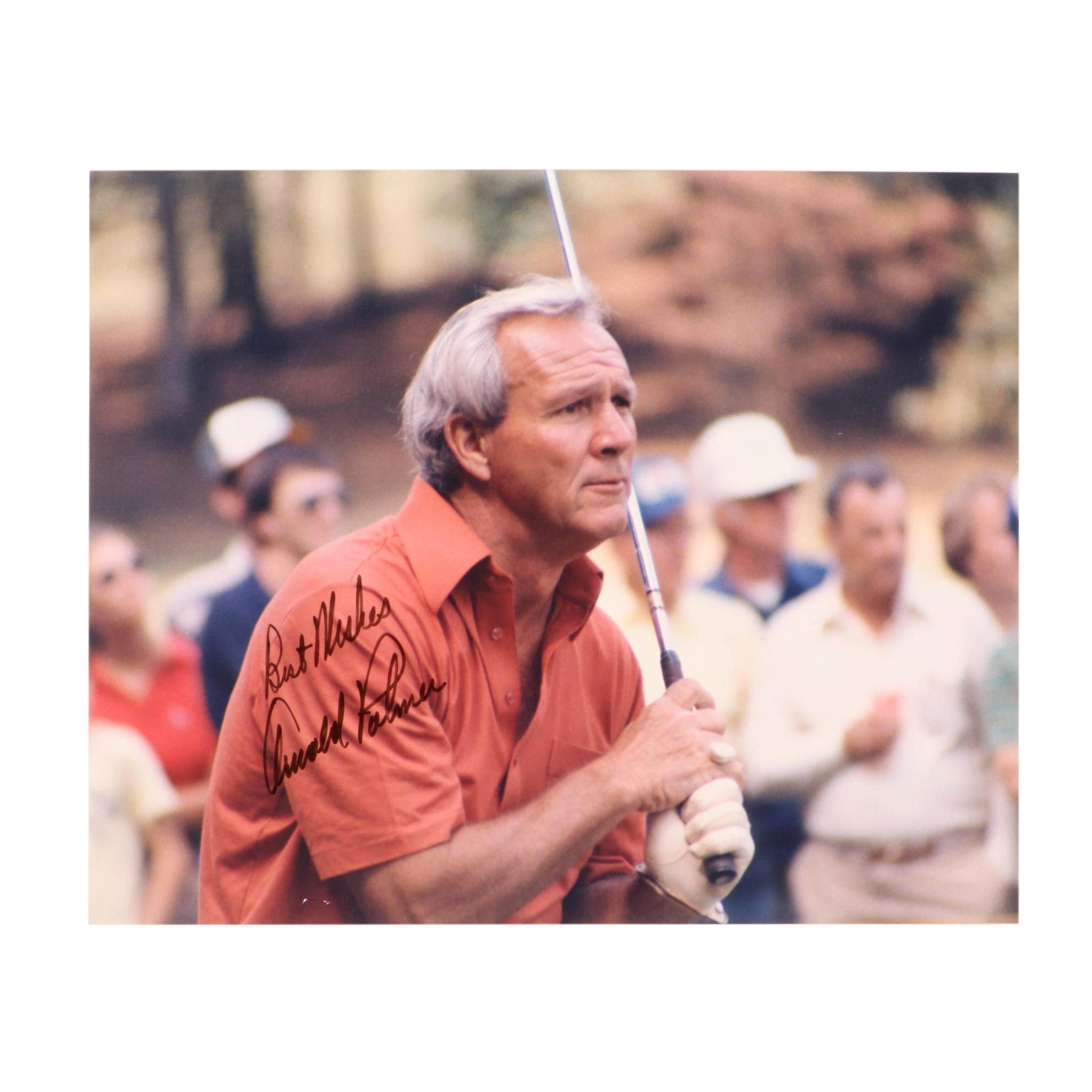 Arnold Palmer Signed PGA Photo Print