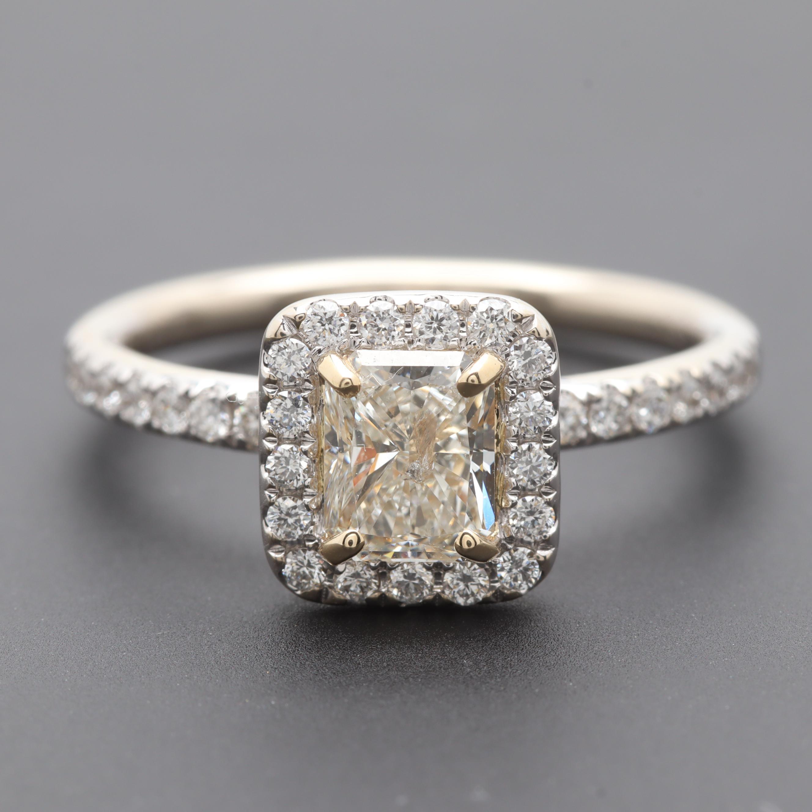 14K White Gold 1.02 CTW Diamond Ring