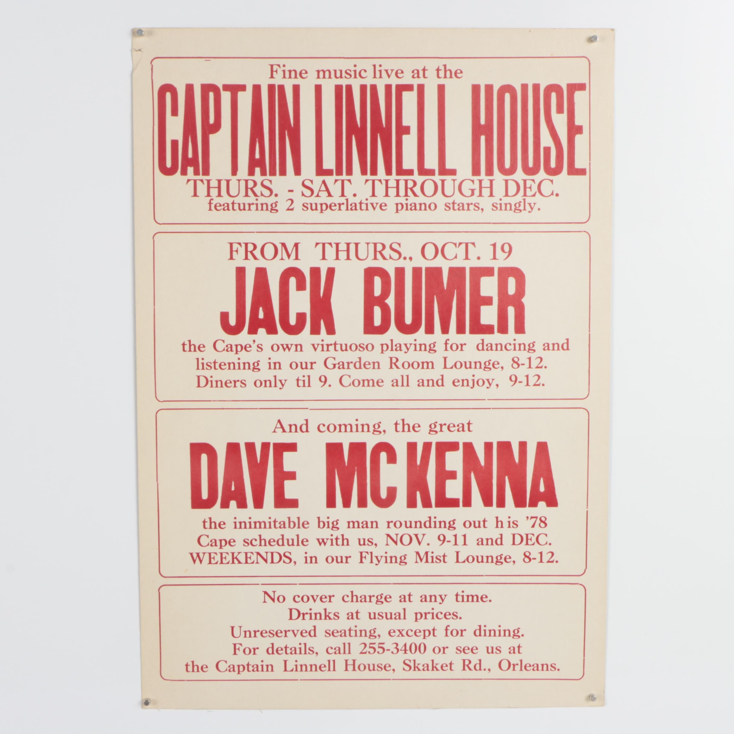 Advertisement Poster for the Captain Linnell House