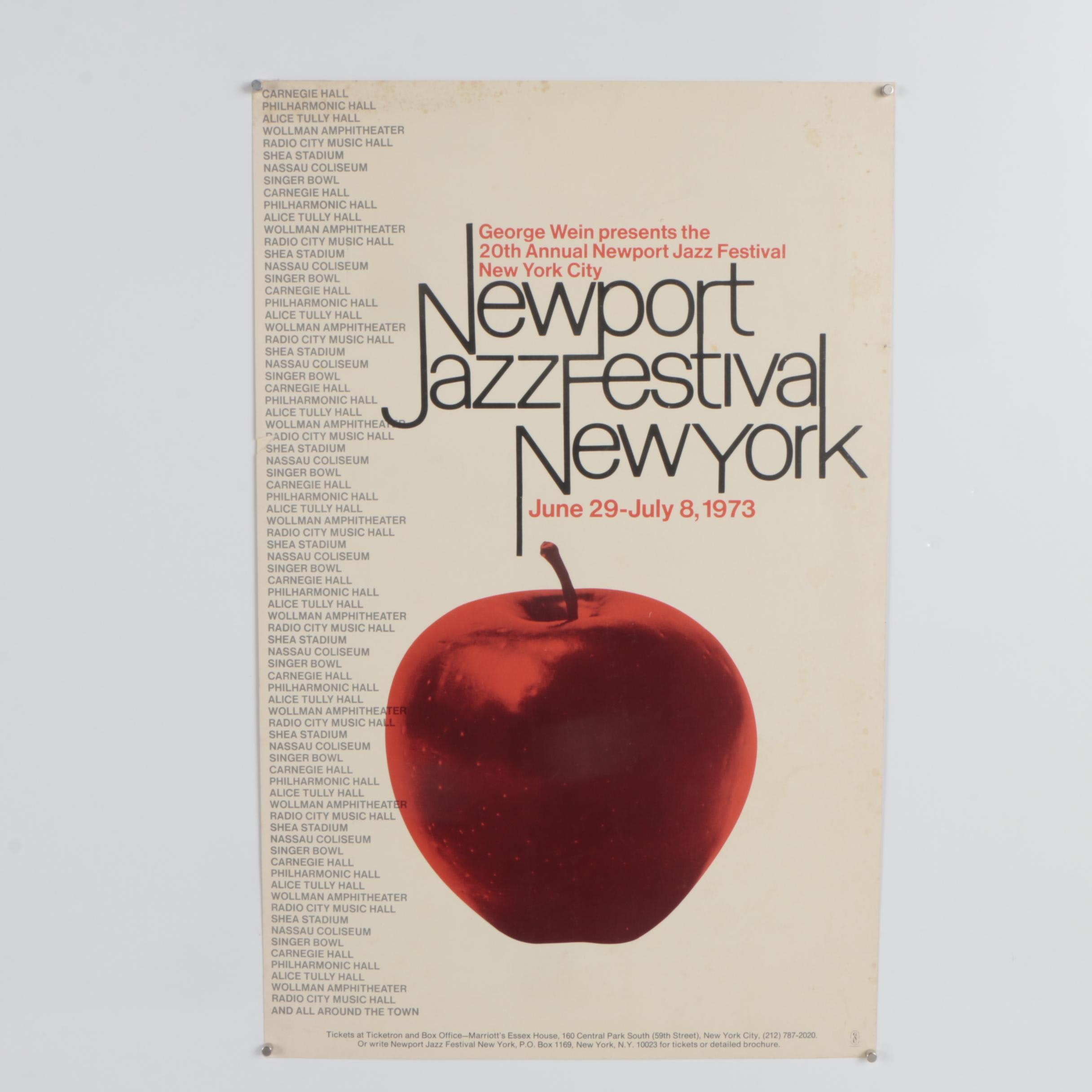 "Lithograph Poster ""Newport Jazz Festival New York"""