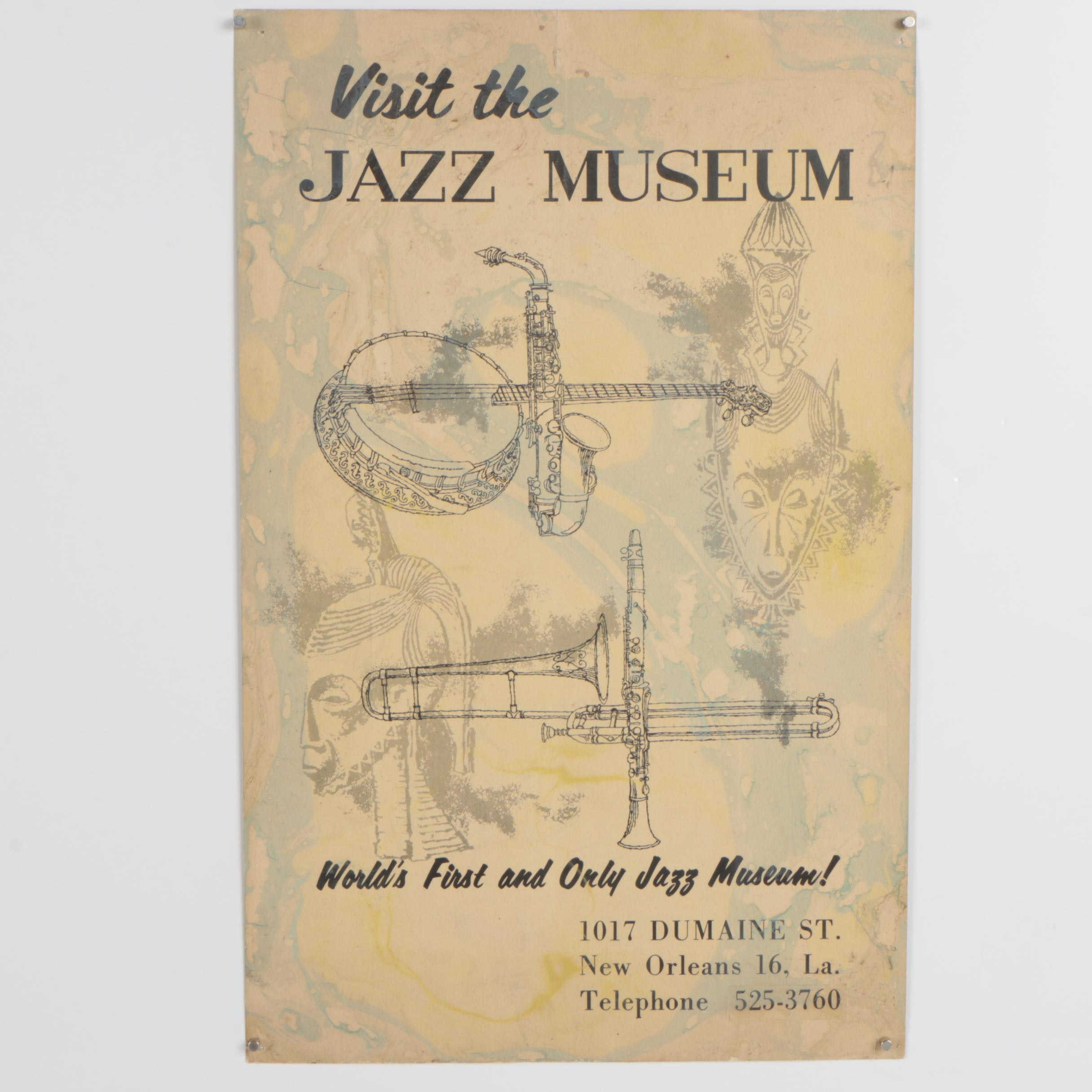 "Mixed Media Poster ""Visit the Jazz Museum"""