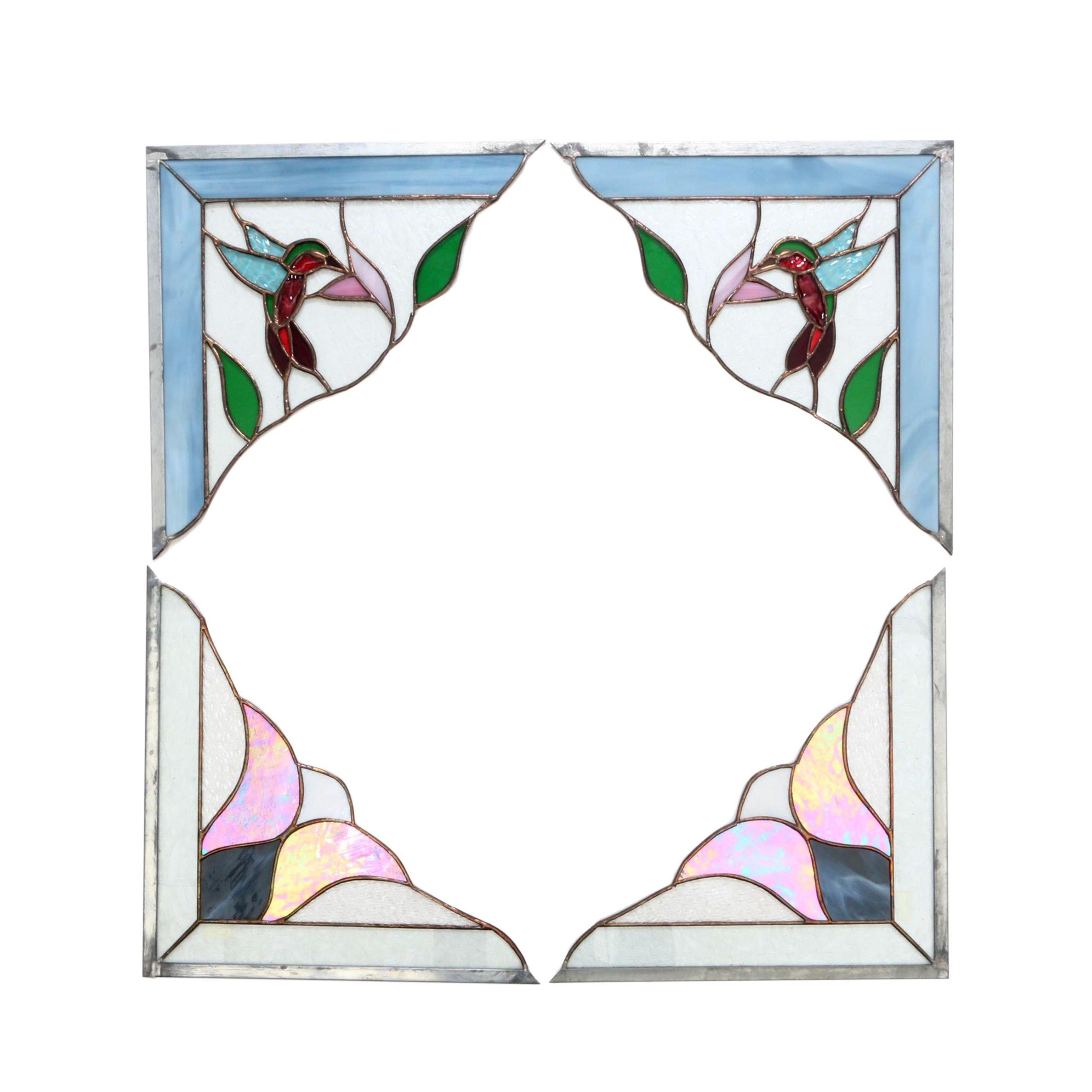 Slag Glass Corner Panels by Schuster Studios