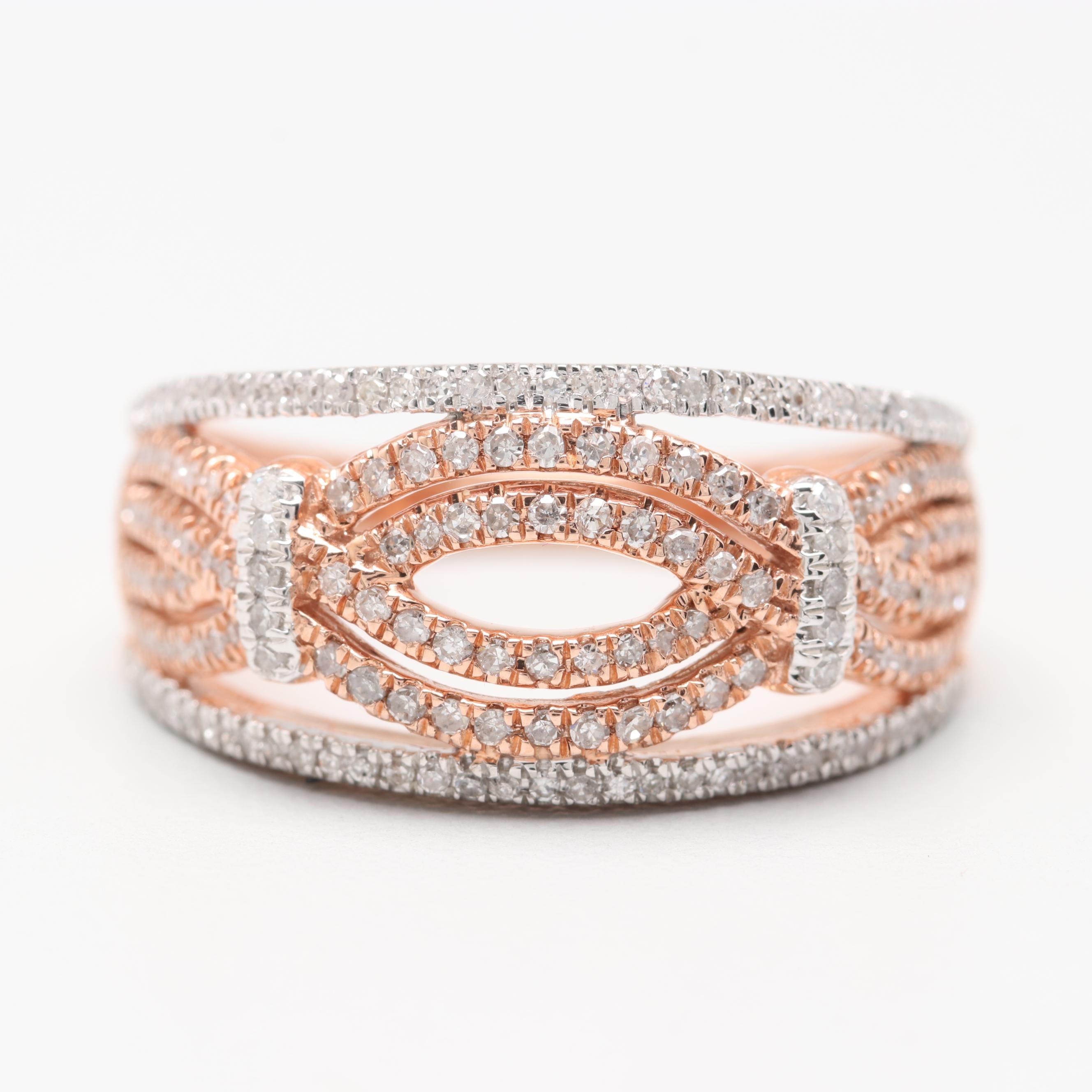 Alwand Vahan 10K Rose Gold Diamond Ring