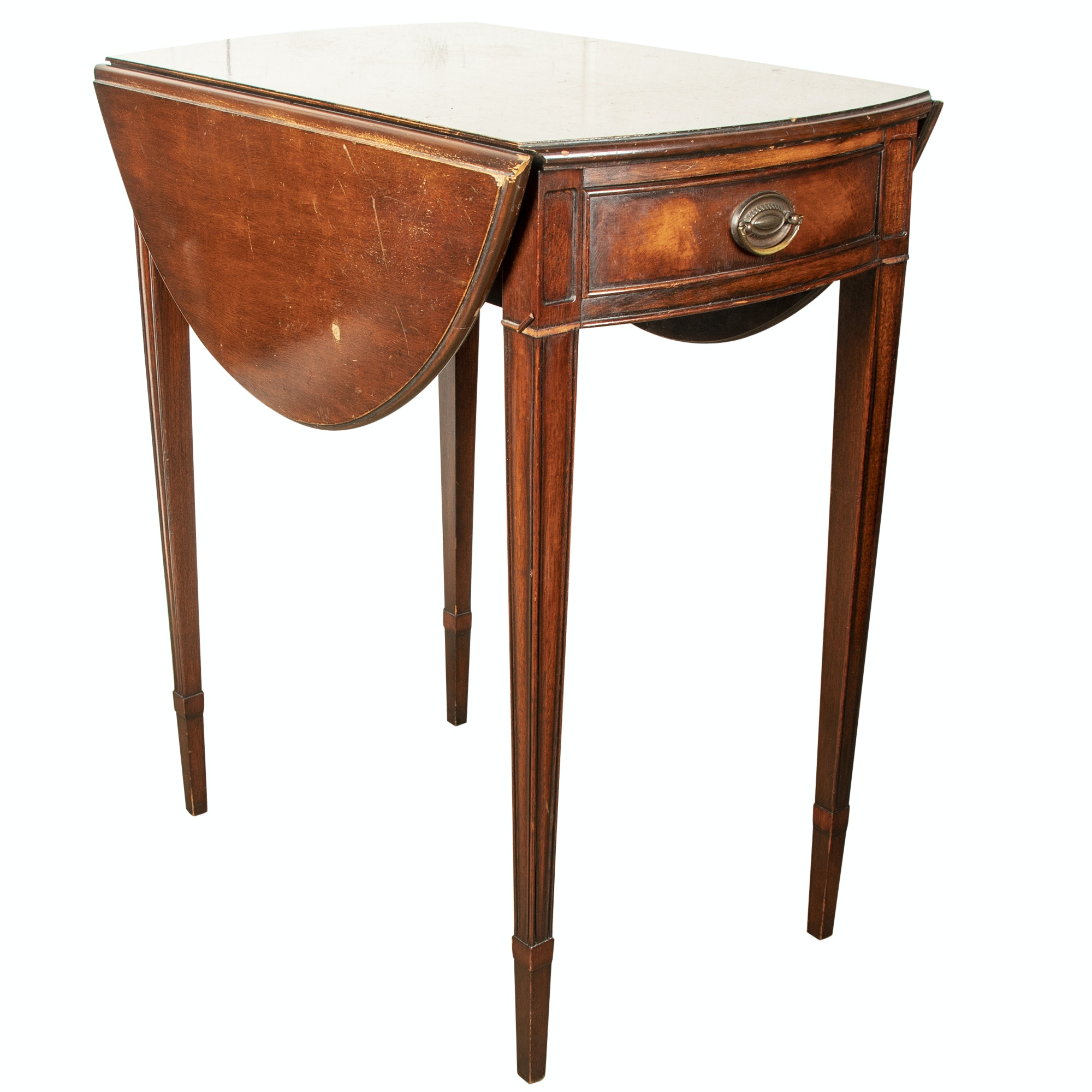 Federal Style Mahogany Pembroke Side Table, Mid to Late 20th Century