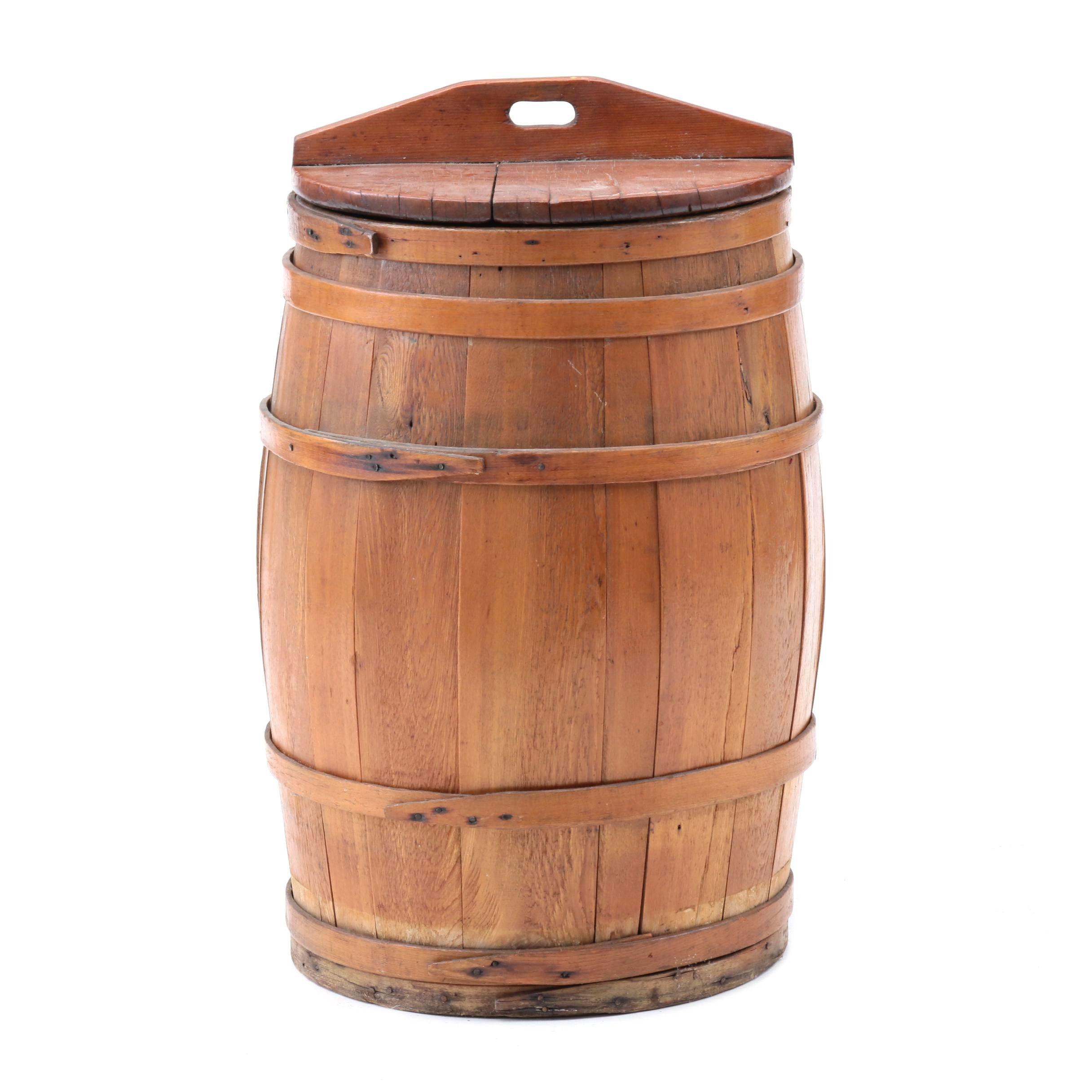 Oak Barrel with Lid