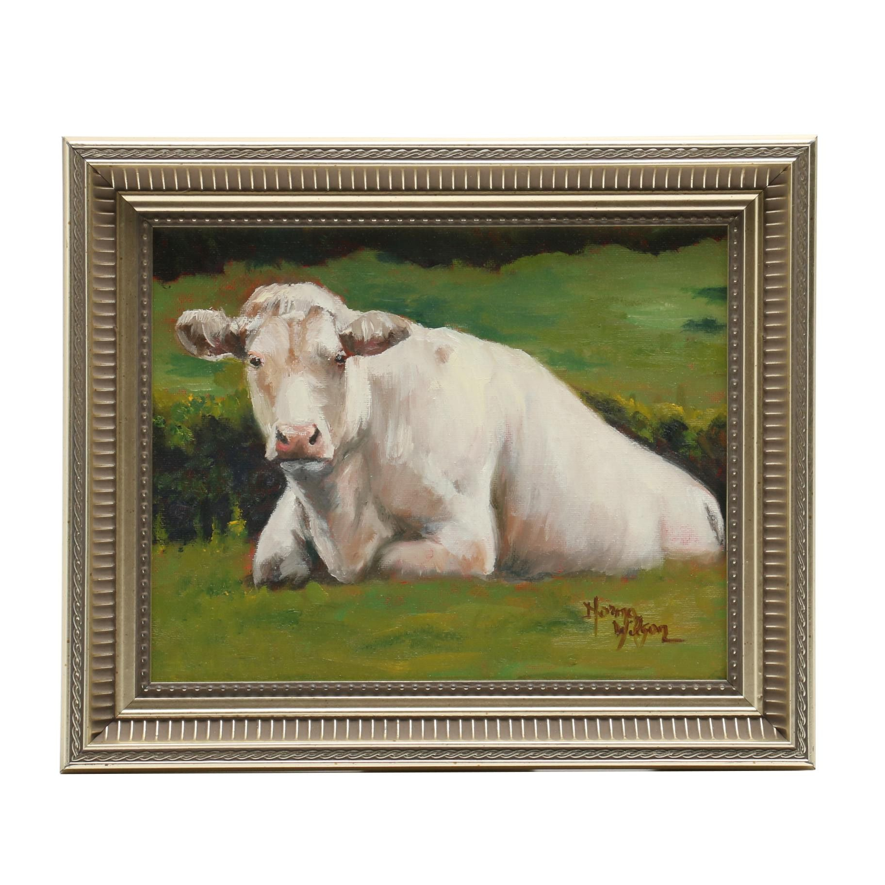 Norma Wilson Oil Painting of a Cow