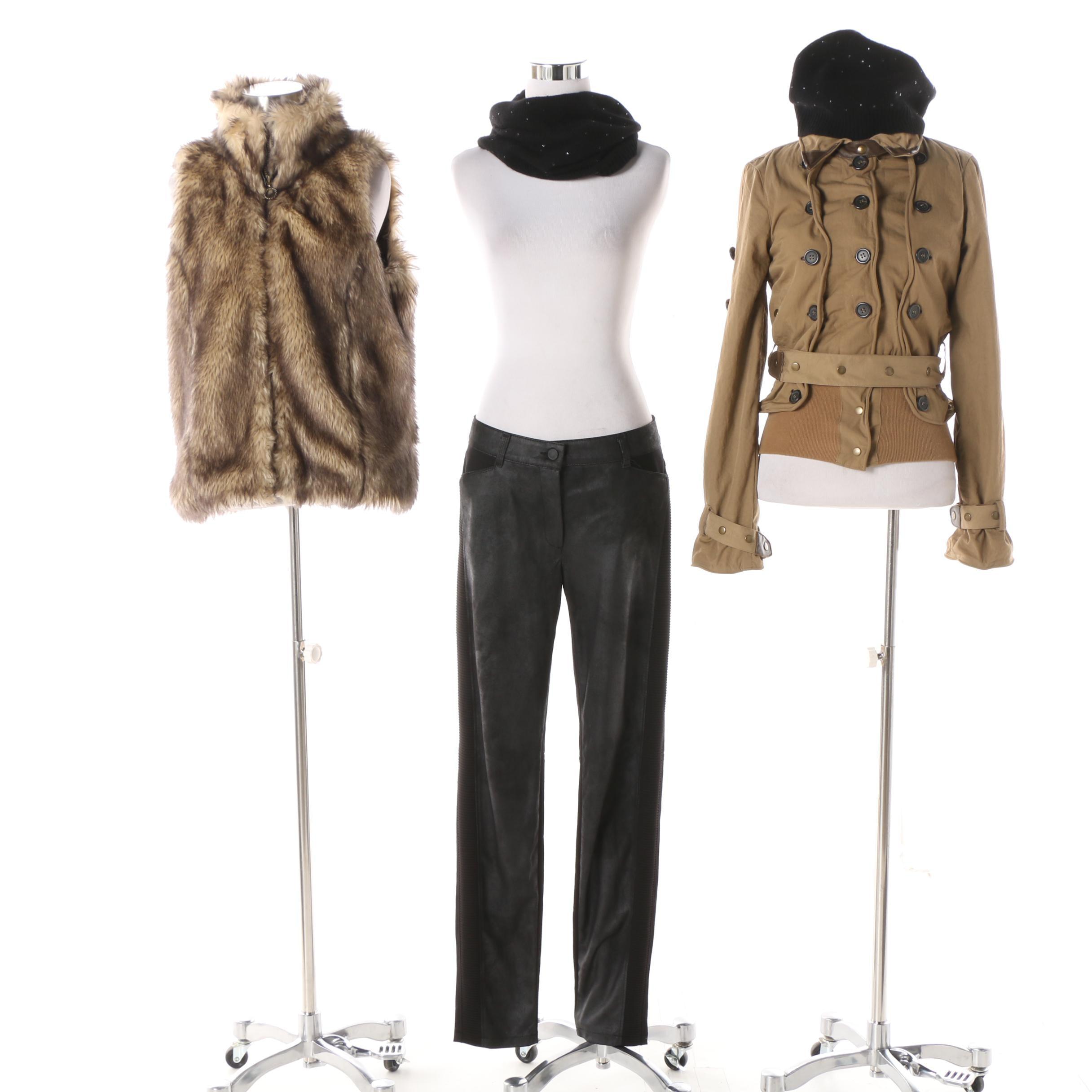 Women's Jacket, Vest, Pants and Hat Including Bianca and Nicholas K