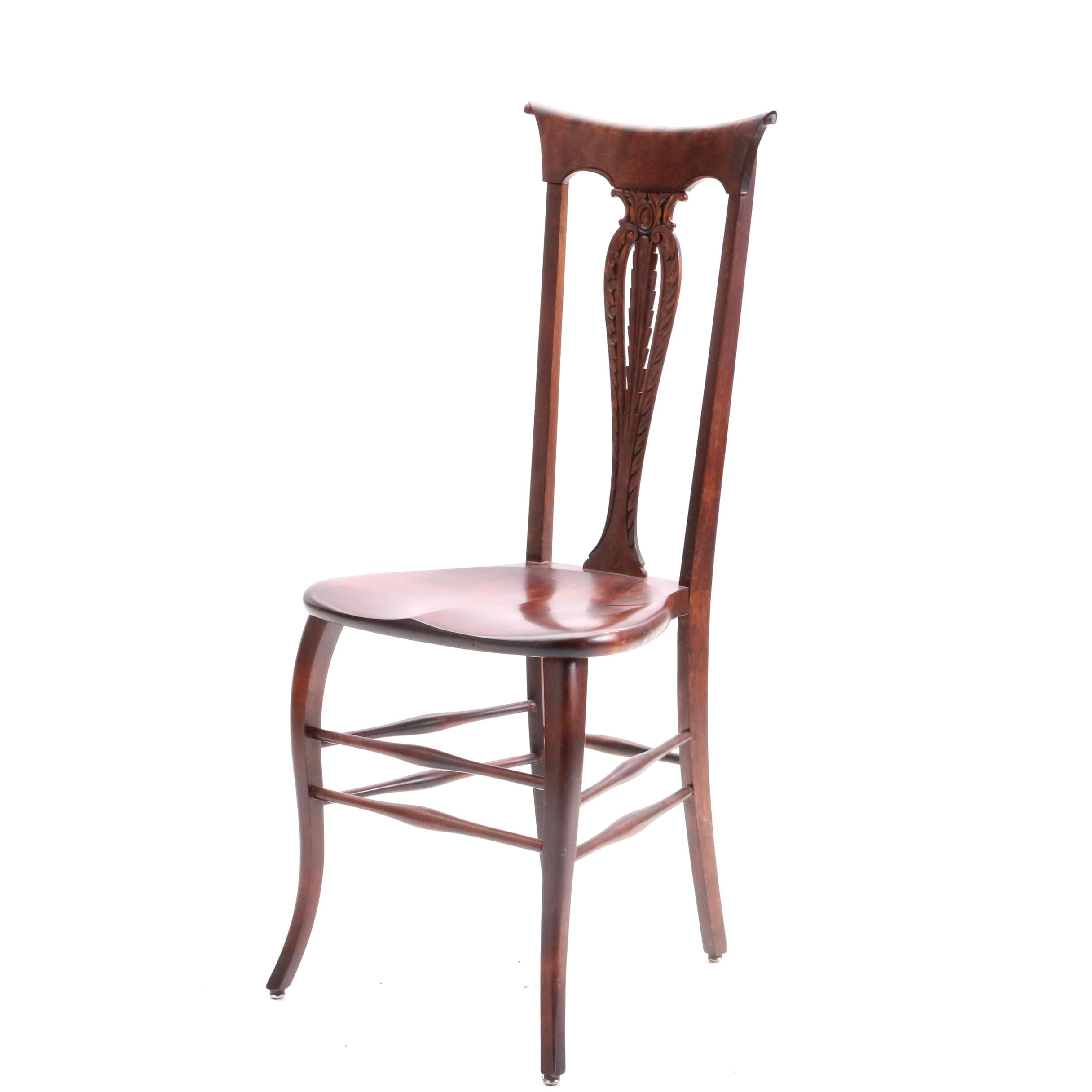 Colonial Revival Style Birch Side Chair, Mid 20th Century
