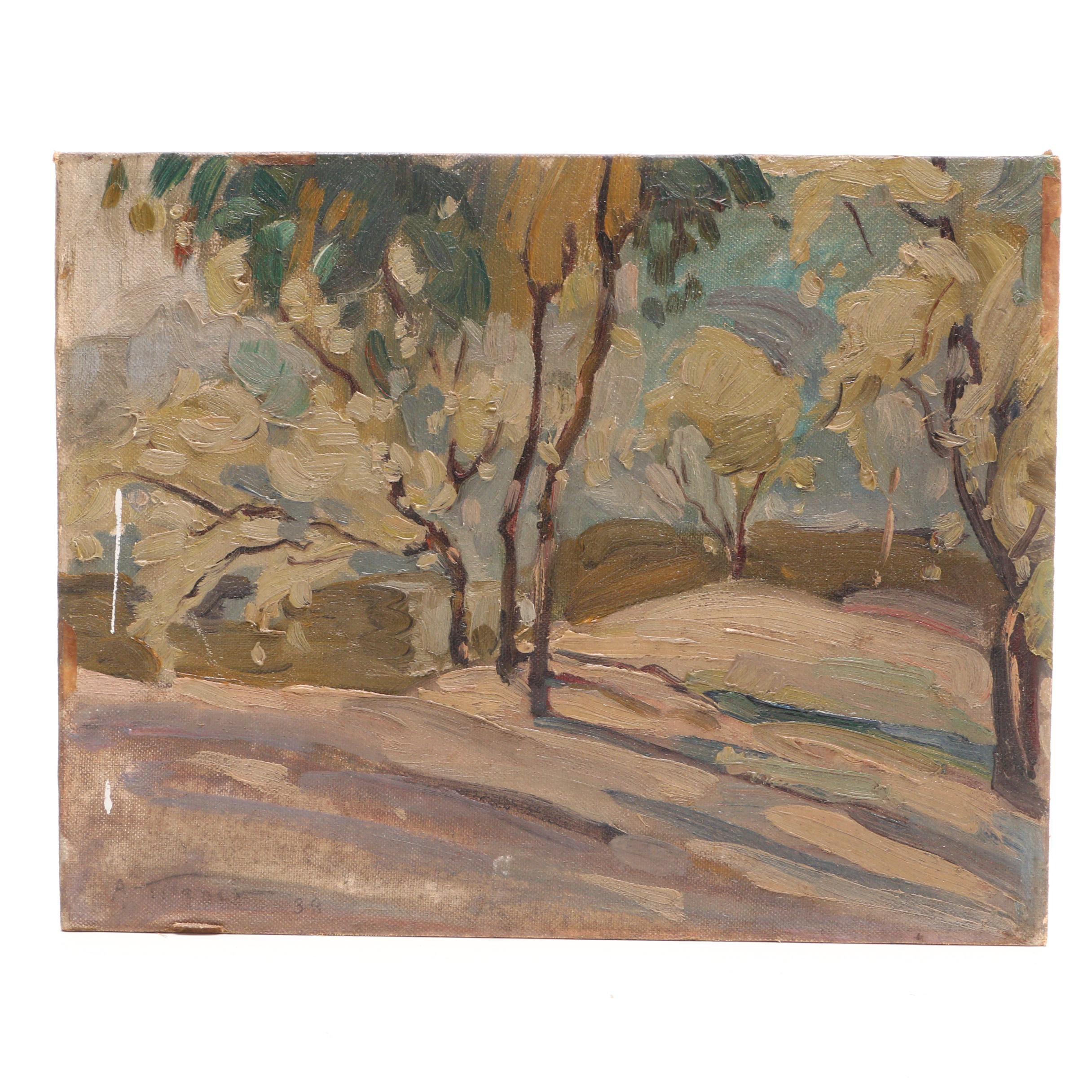 Arthur Tilgner 1939 Oil Landscape Painting
